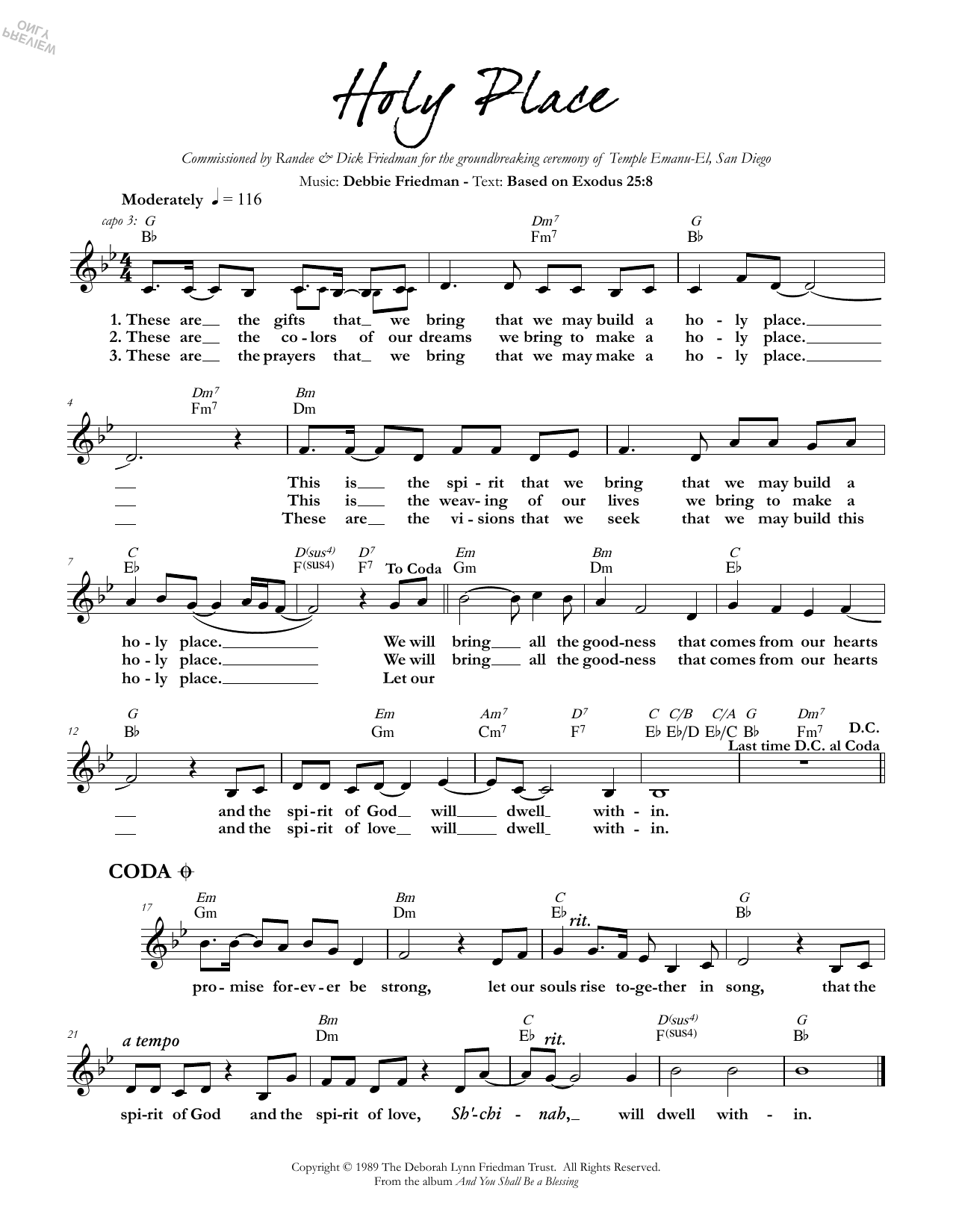 Holy Place Sheet Music