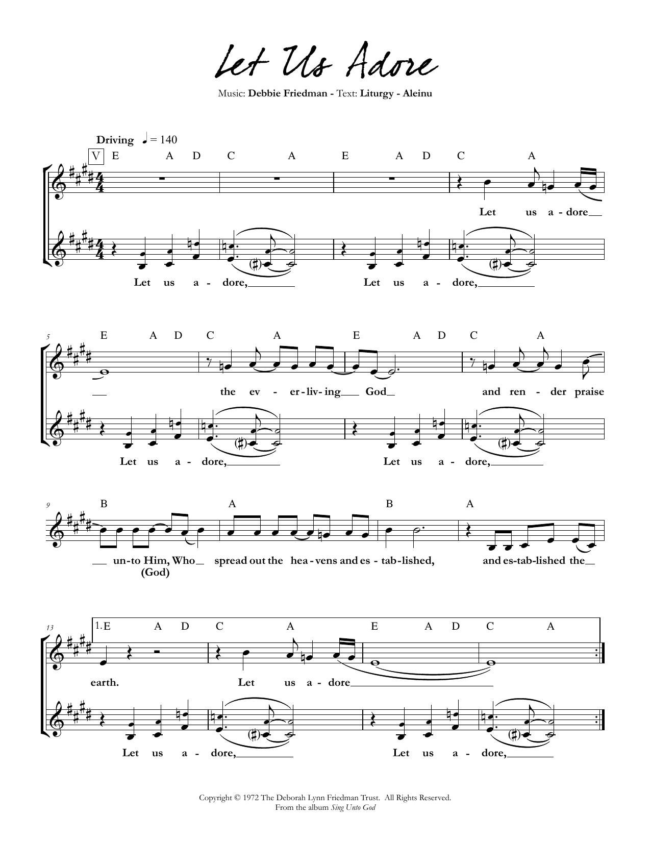 Let Us Adore Sheet Music