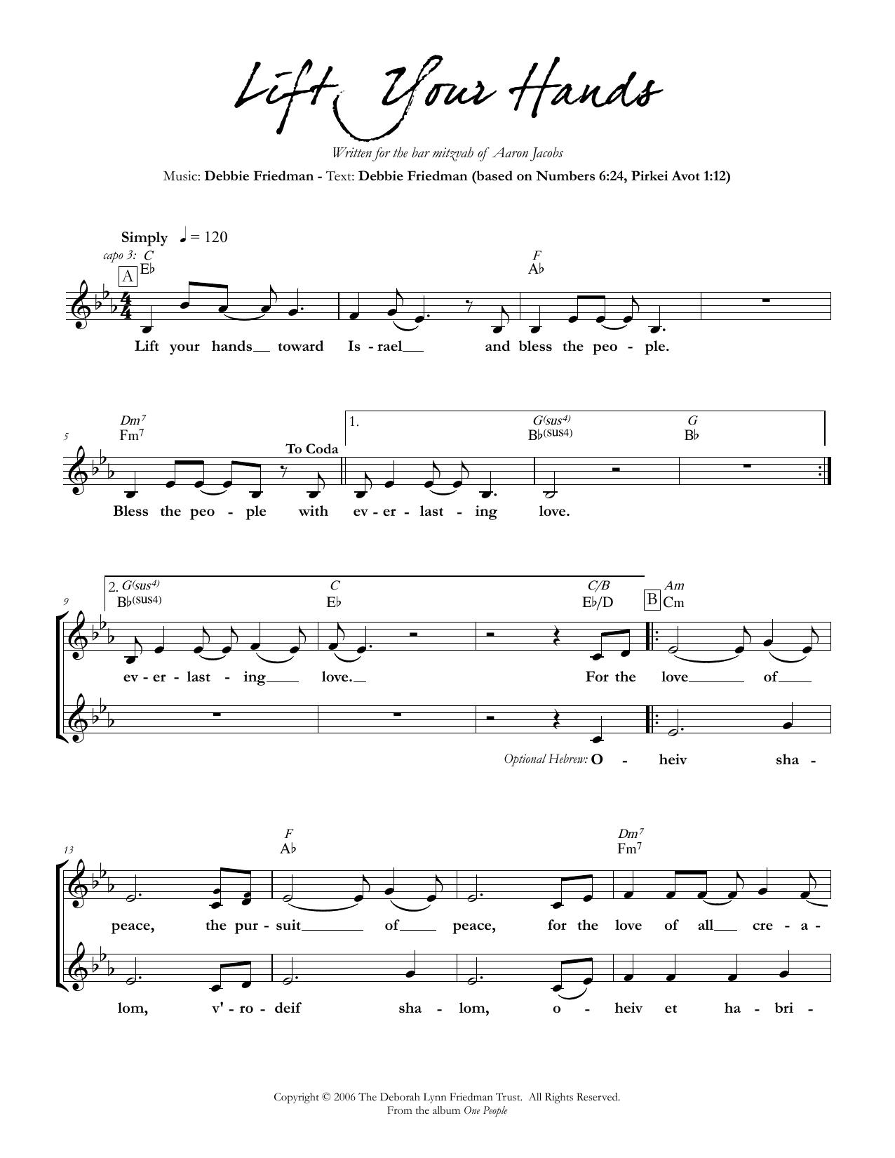 Lift Your Hands Sheet Music