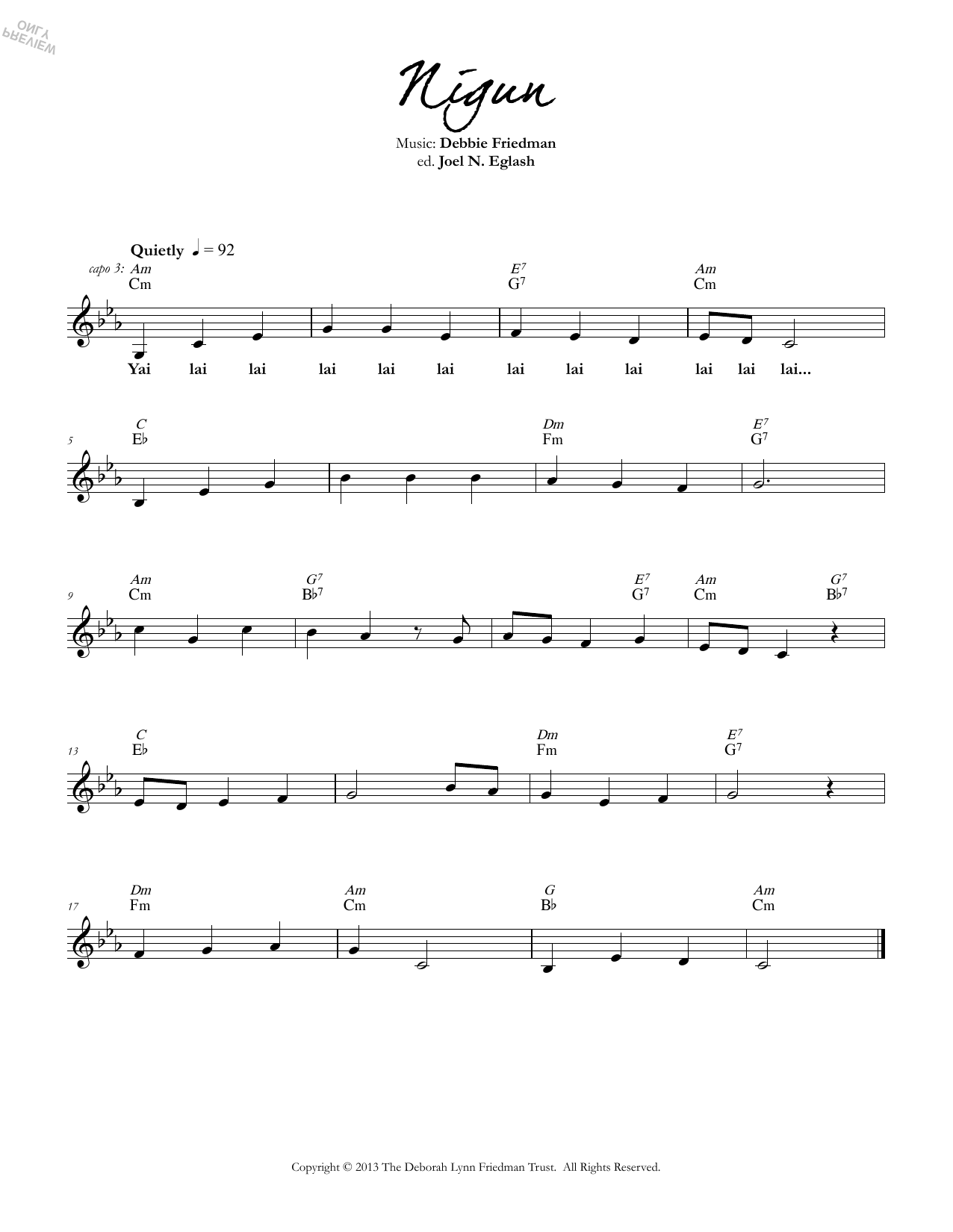 Nigun Sheet Music