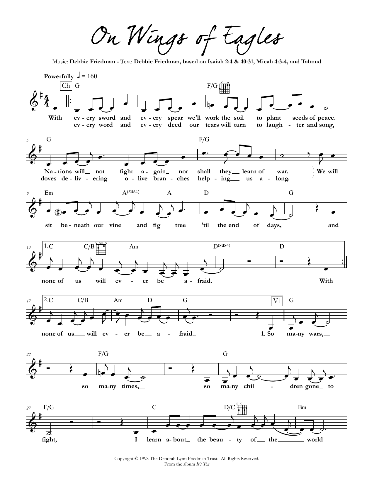 On Wings of Eagles Sheet Music