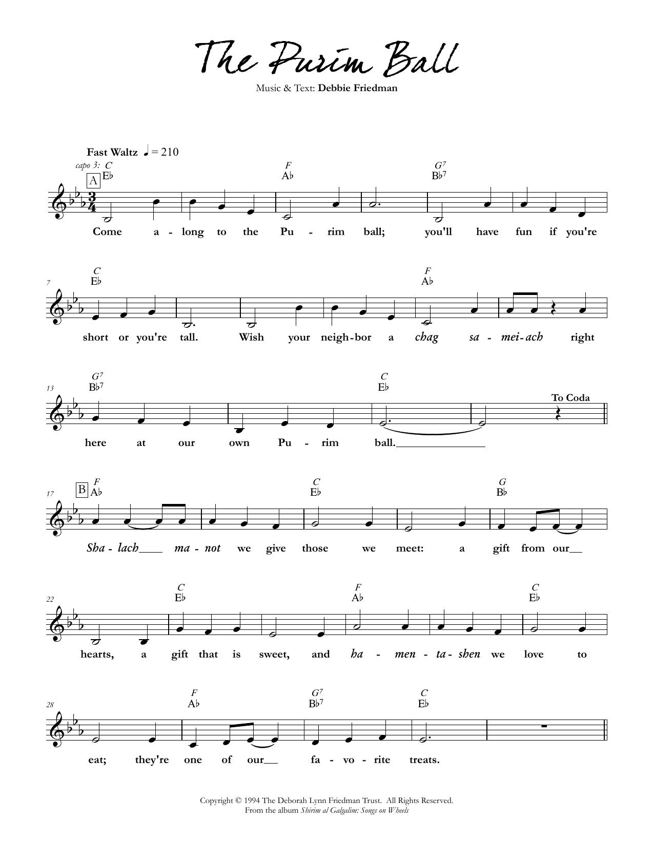 The Purim Ball Sheet Music