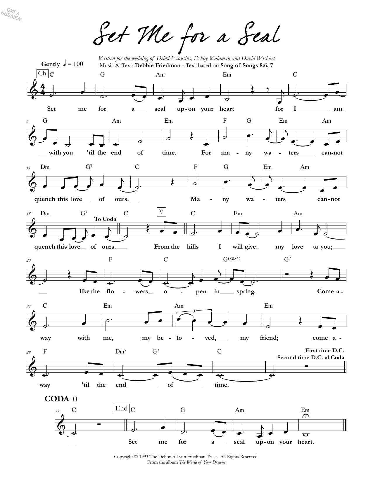 Set Me for a Seal Sheet Music