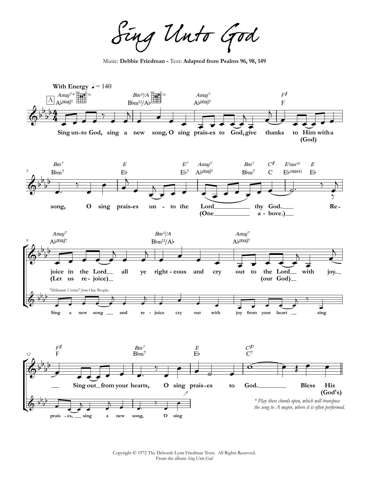 Sing Unto God Sheet Music