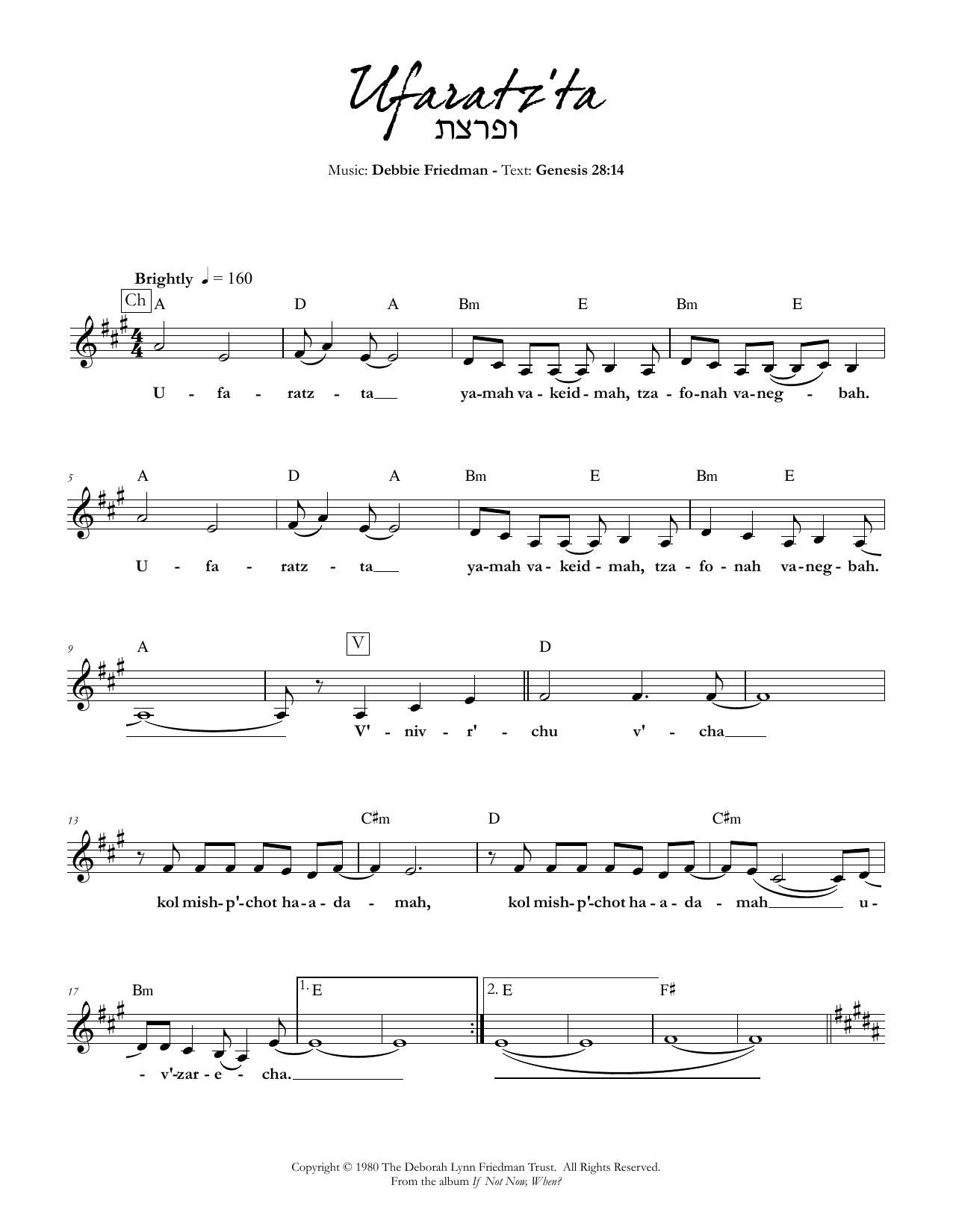 Ufaratz'ta Sheet Music