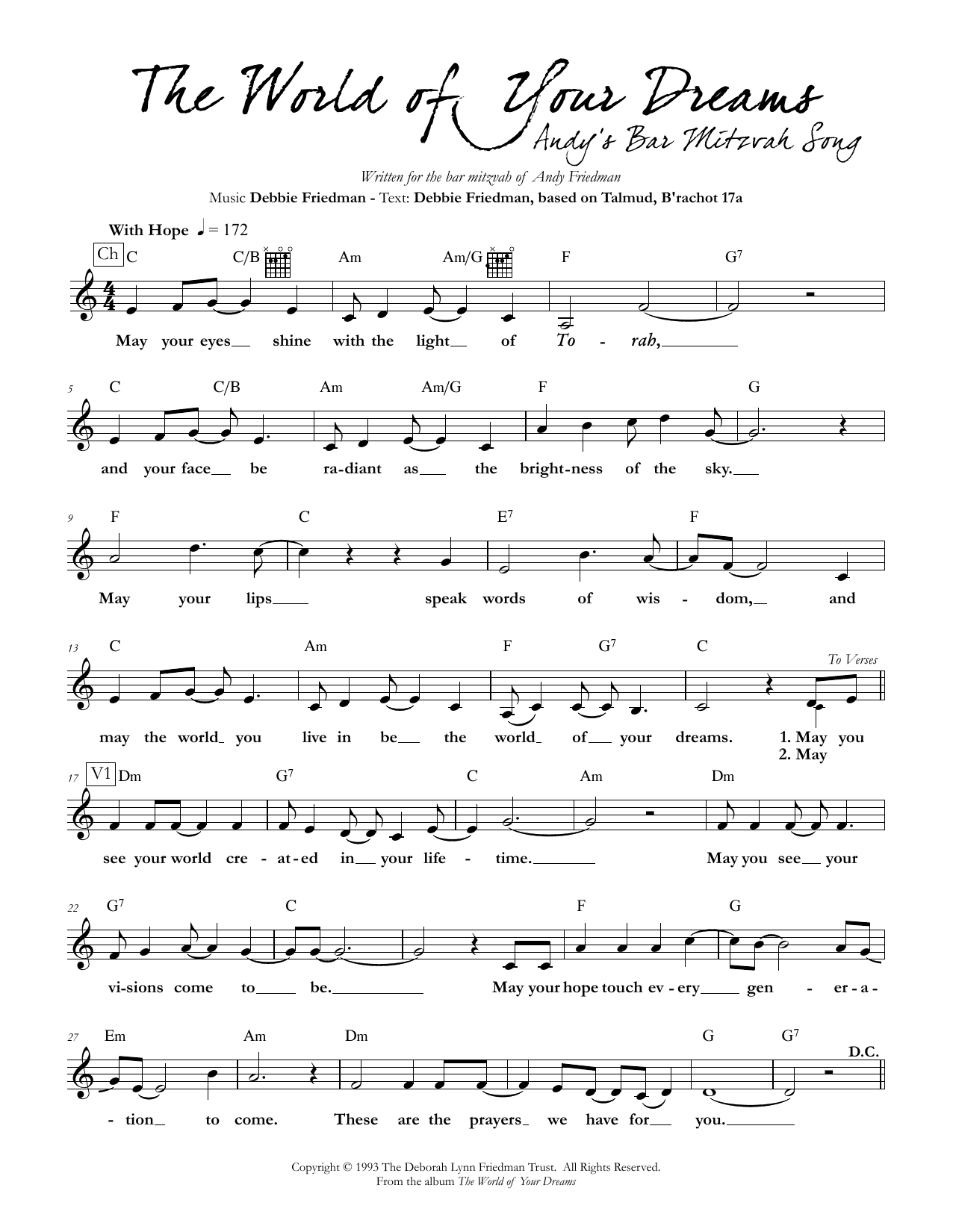The World of Your Dreams Sheet Music