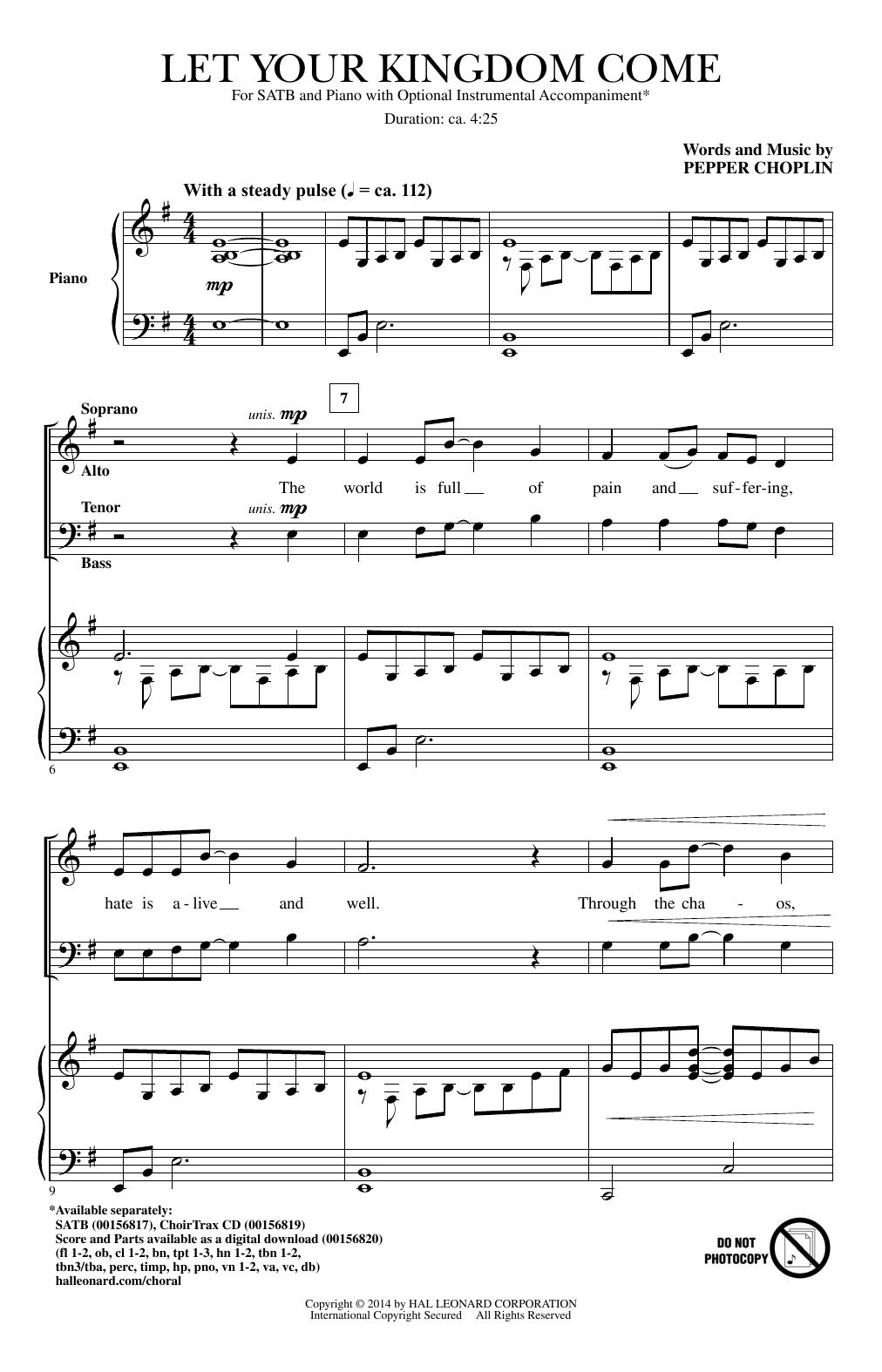 Let Your Kingdom Come (SATB Choir)