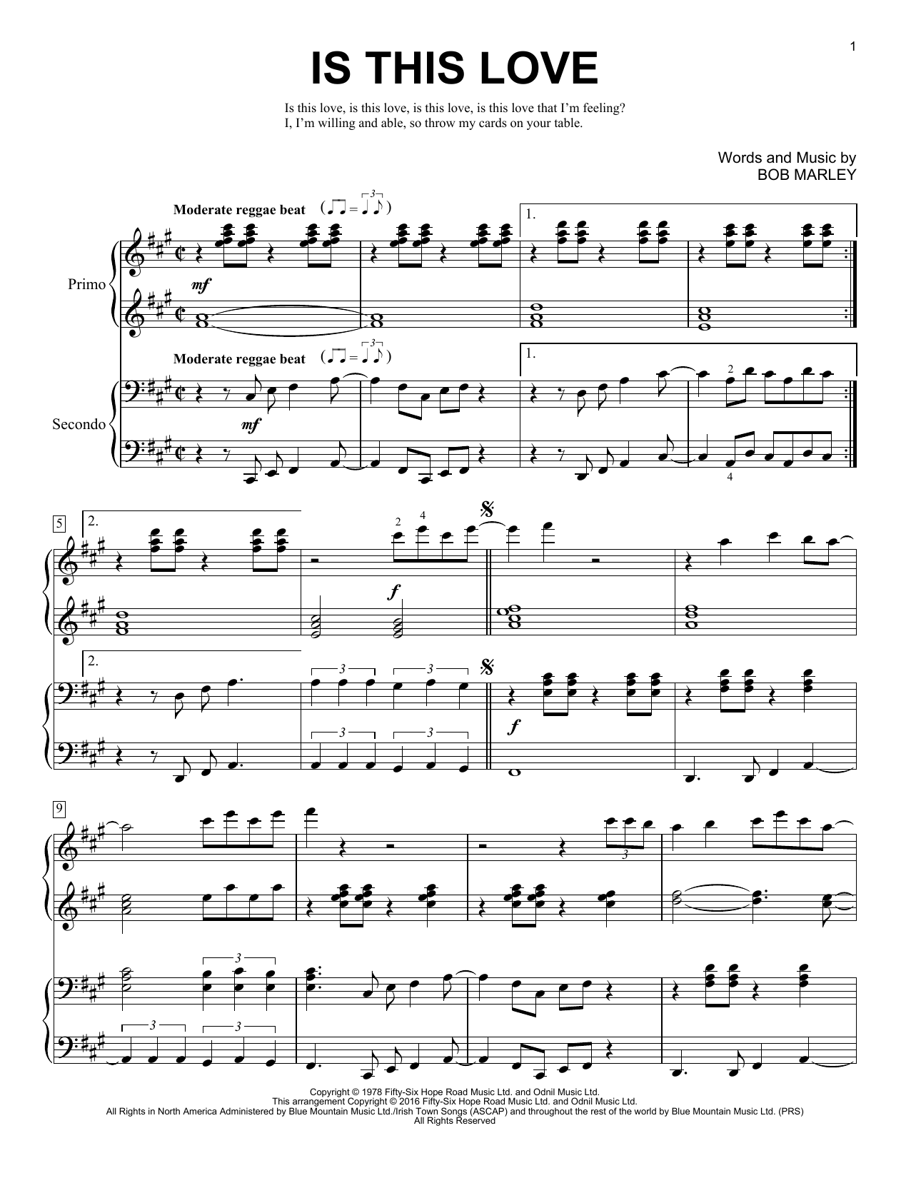 Partition piano Is This Love de Brent Edstrom - 4 mains