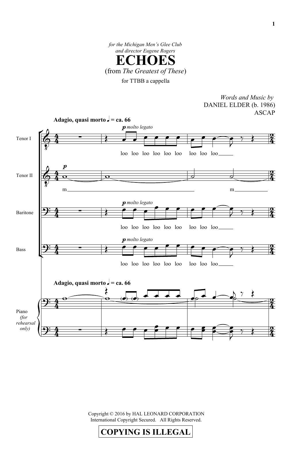 Echoes Sheet Music
