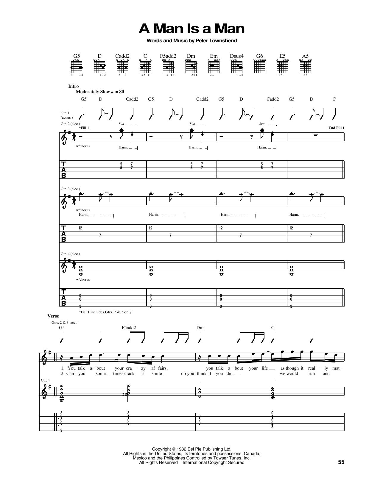A Man Is A Man Sheet Music