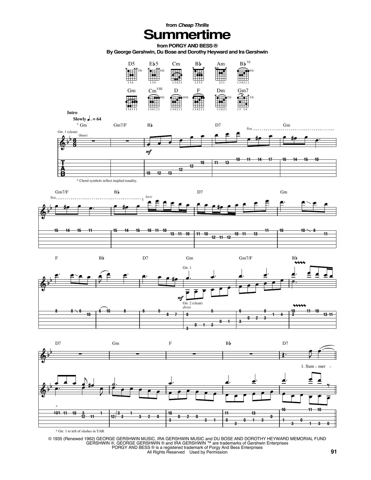 Summertime Sheet Music