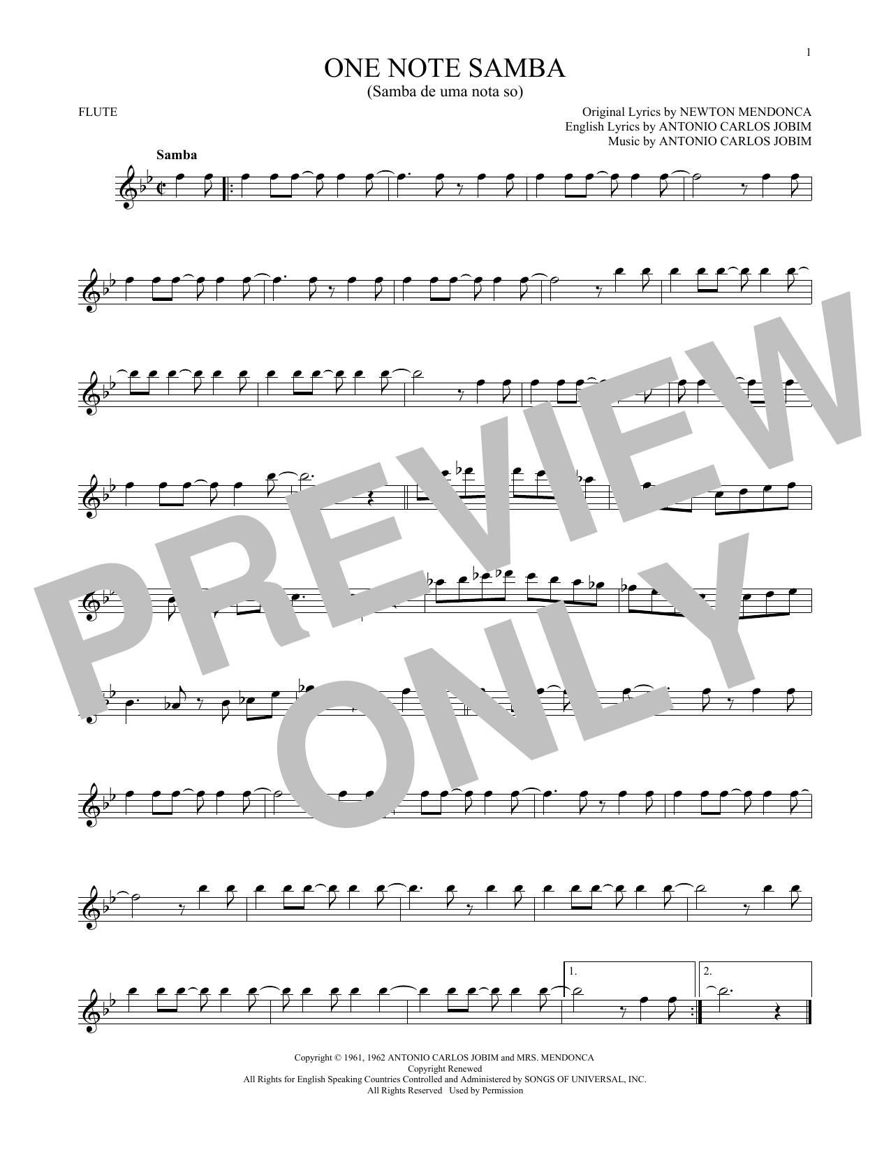 One Note Samba (Samba De Uma Nota So) (Flute Solo)