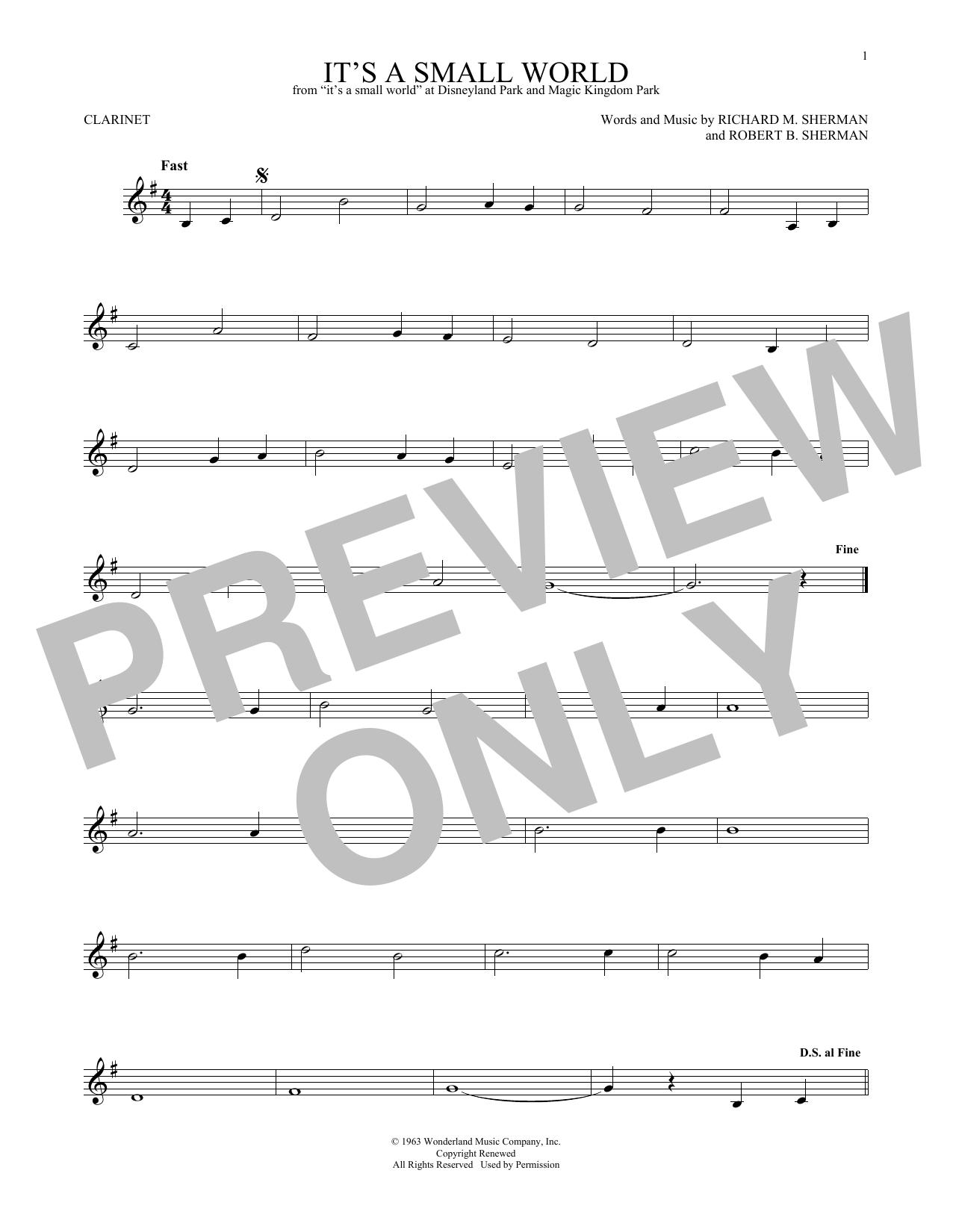 It's A Small World (Clarinet Solo)