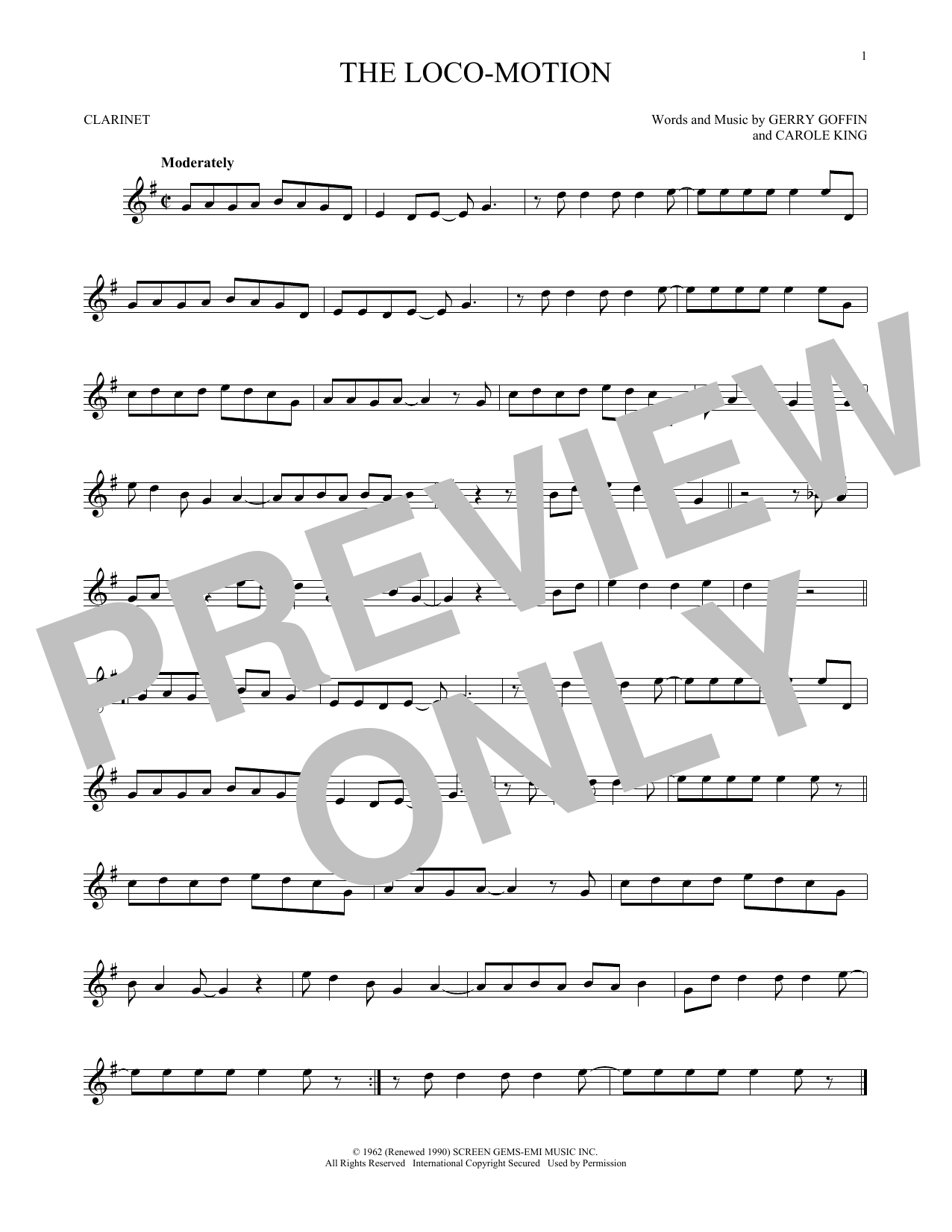 The Loco-Motion (Clarinet Solo)