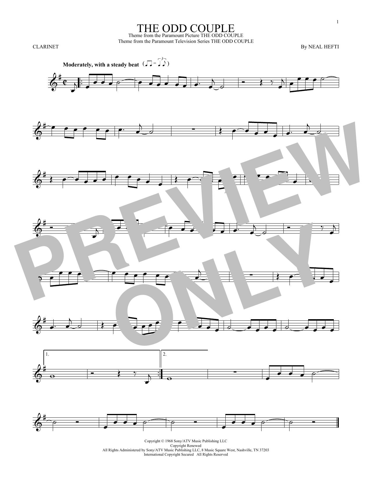 The Odd Couple (Clarinet Solo)