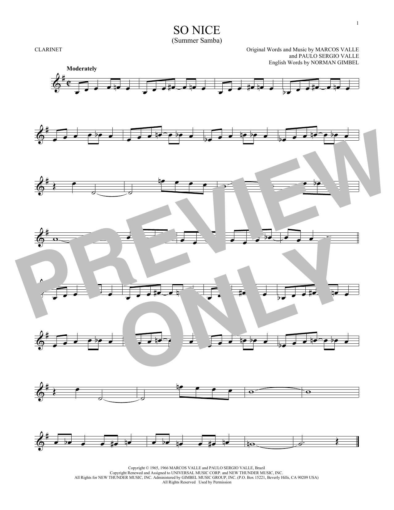 So Nice (Summer Samba) (Clarinet Solo)