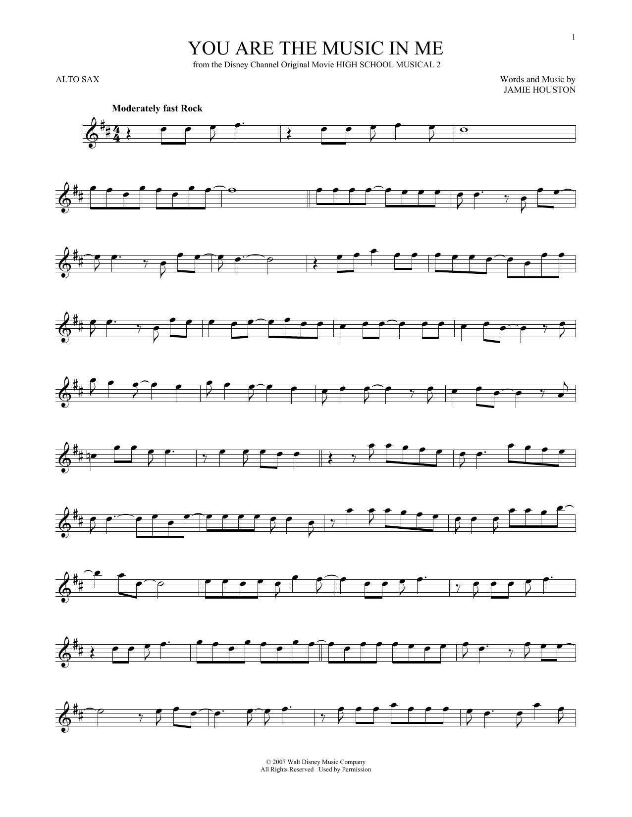 You Are The Music In Me Sheet Music