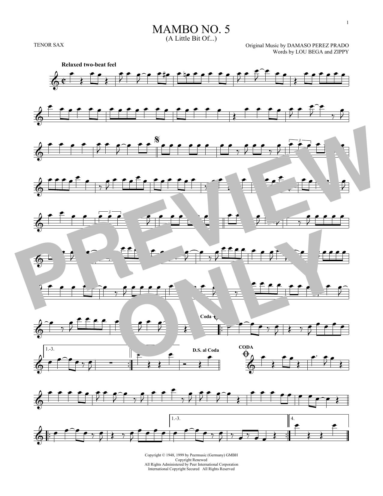 Mambo No. 5 (A Little Bit Of...) (Tenor Sax Solo)