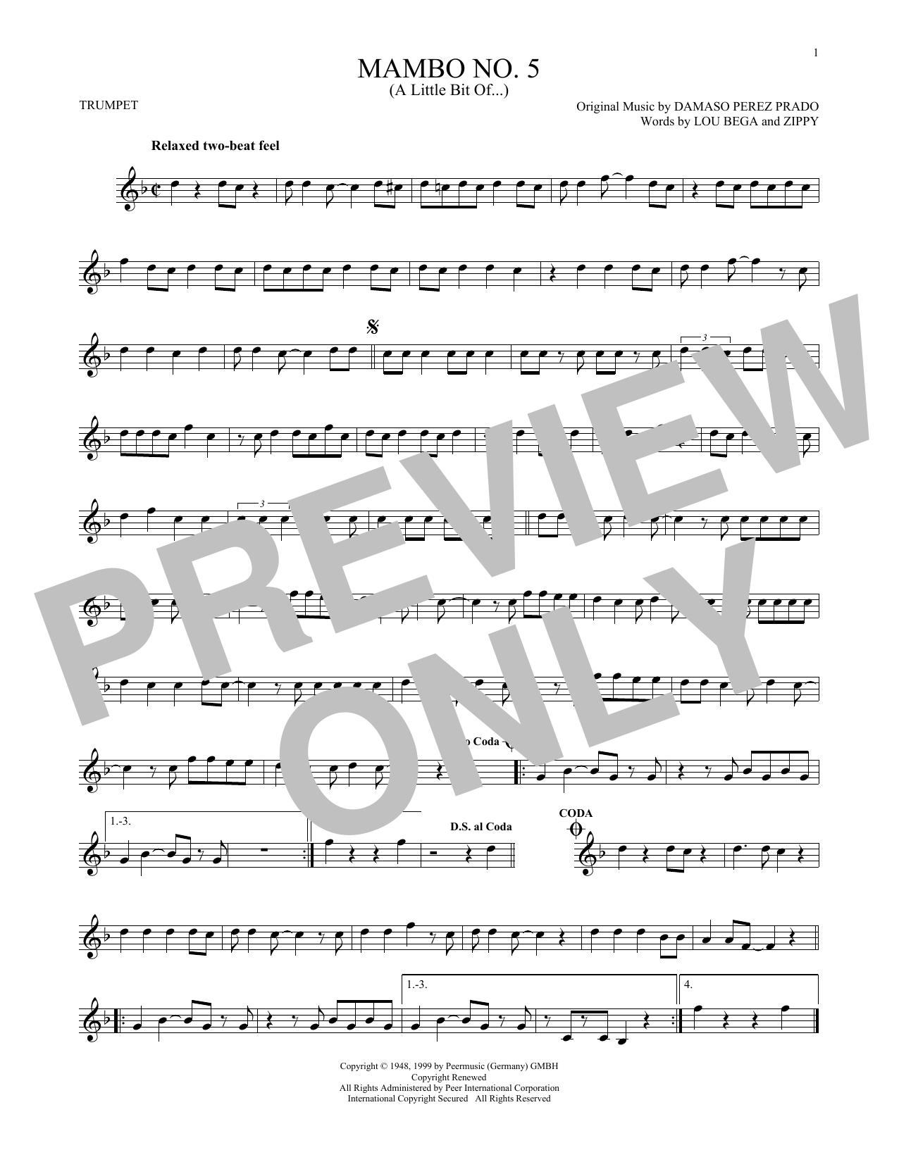 Mambo No. 5 (A Little Bit Of...) (Trumpet Solo)
