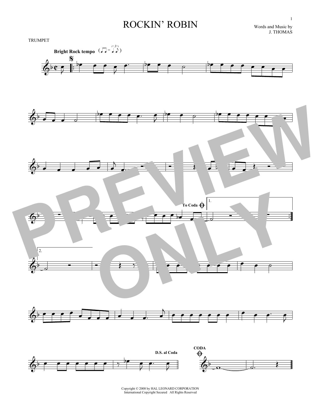 Rockin' Robin (Trumpet Solo)