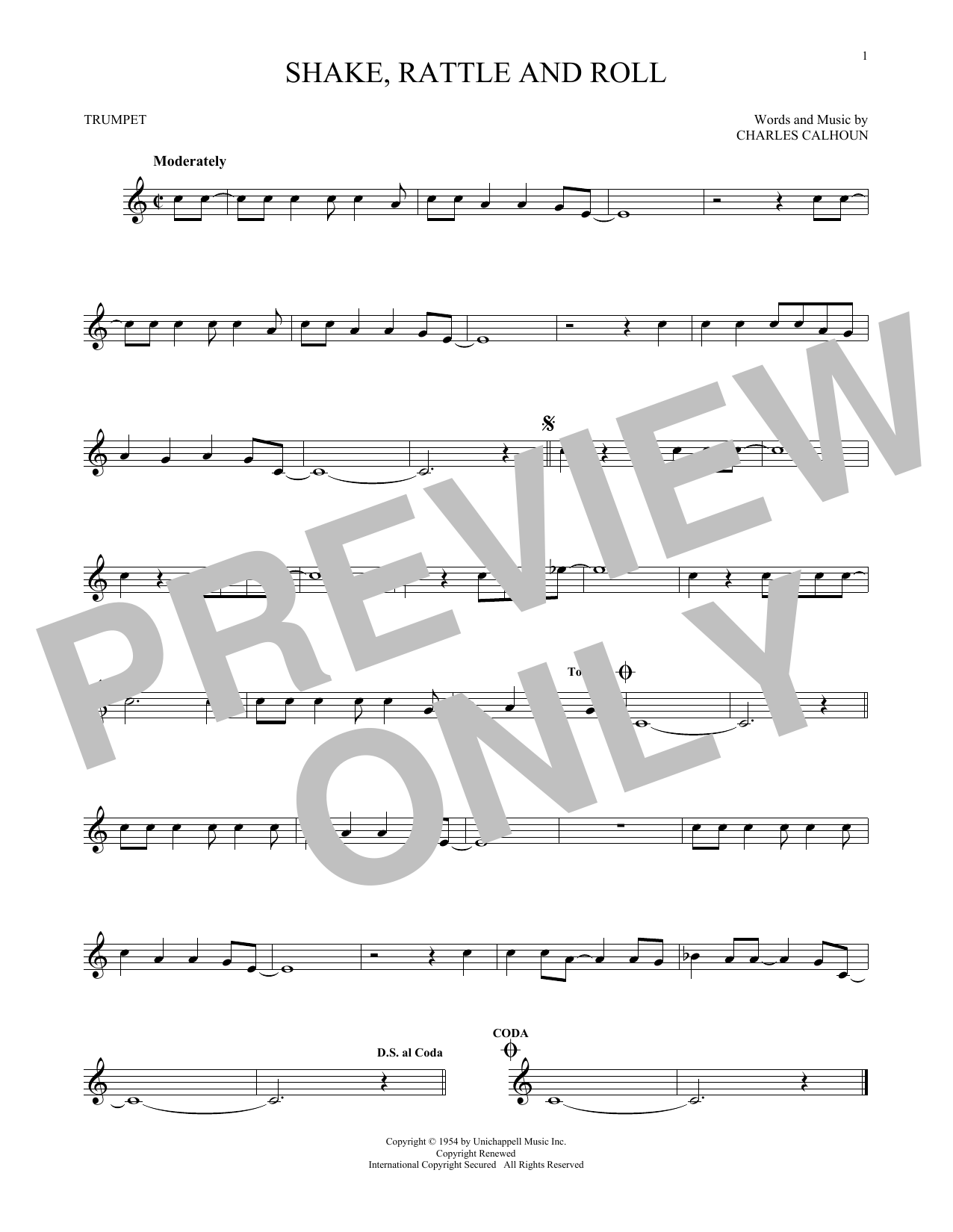 Shake, Rattle And Roll Sheet Music
