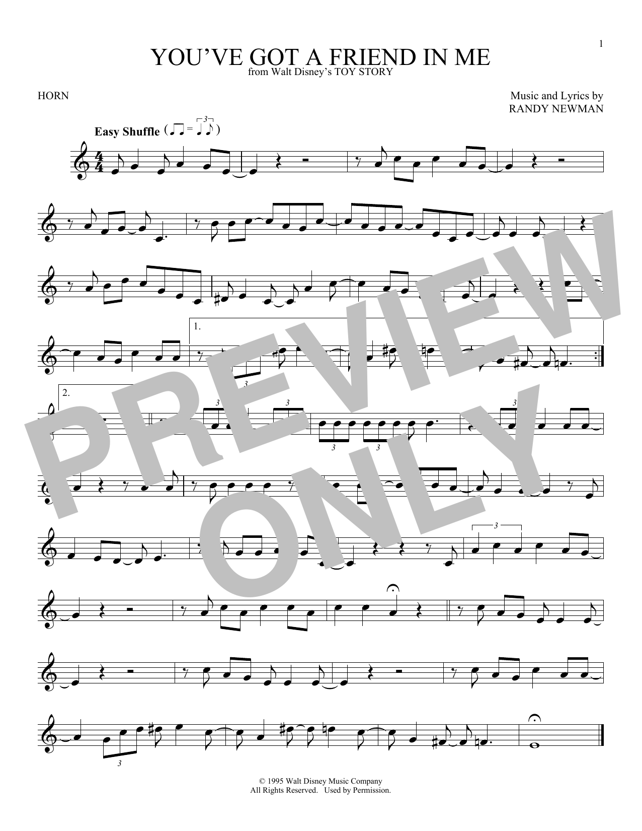 You've Got A Friend In Me (from Toy Story) (French Horn Solo)