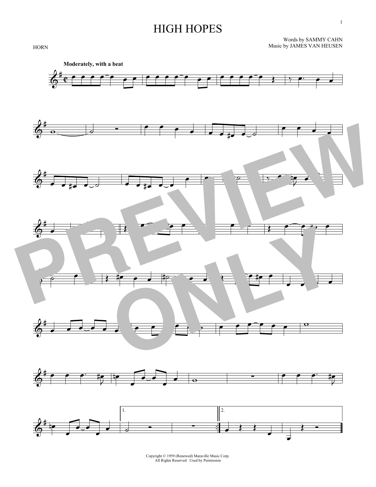 High Hopes (French Horn Solo)
