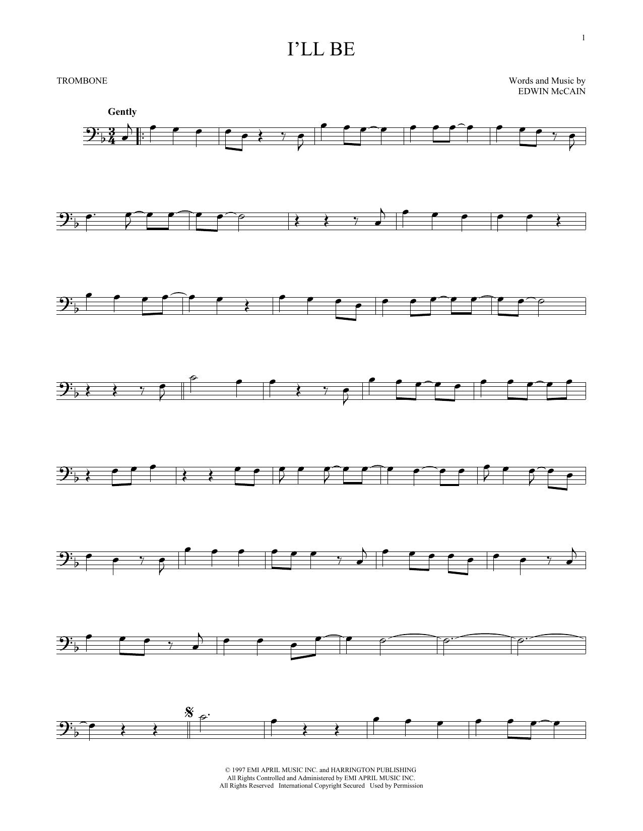 I'll Be (Trombone Solo)