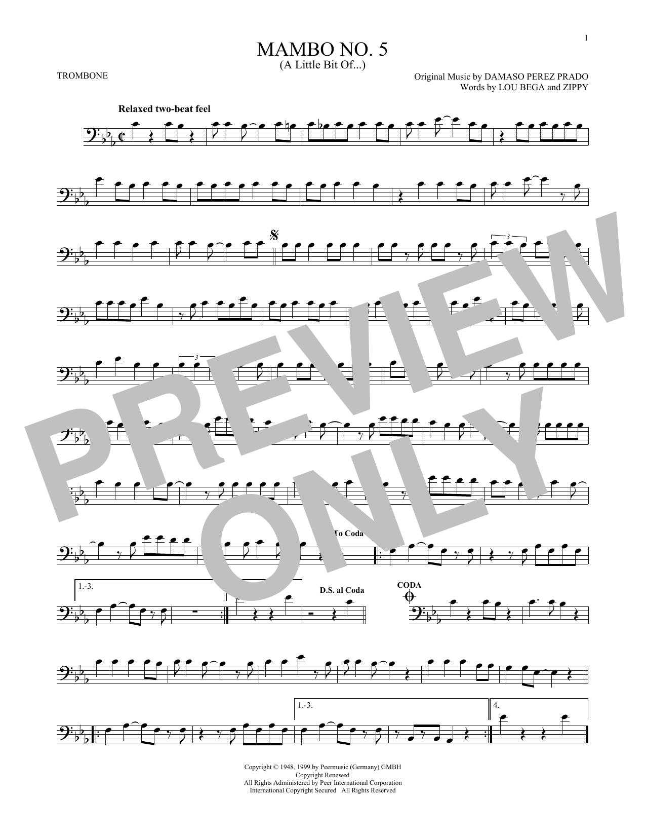 Mambo No. 5 (A Little Bit Of...) (Trombone Solo)