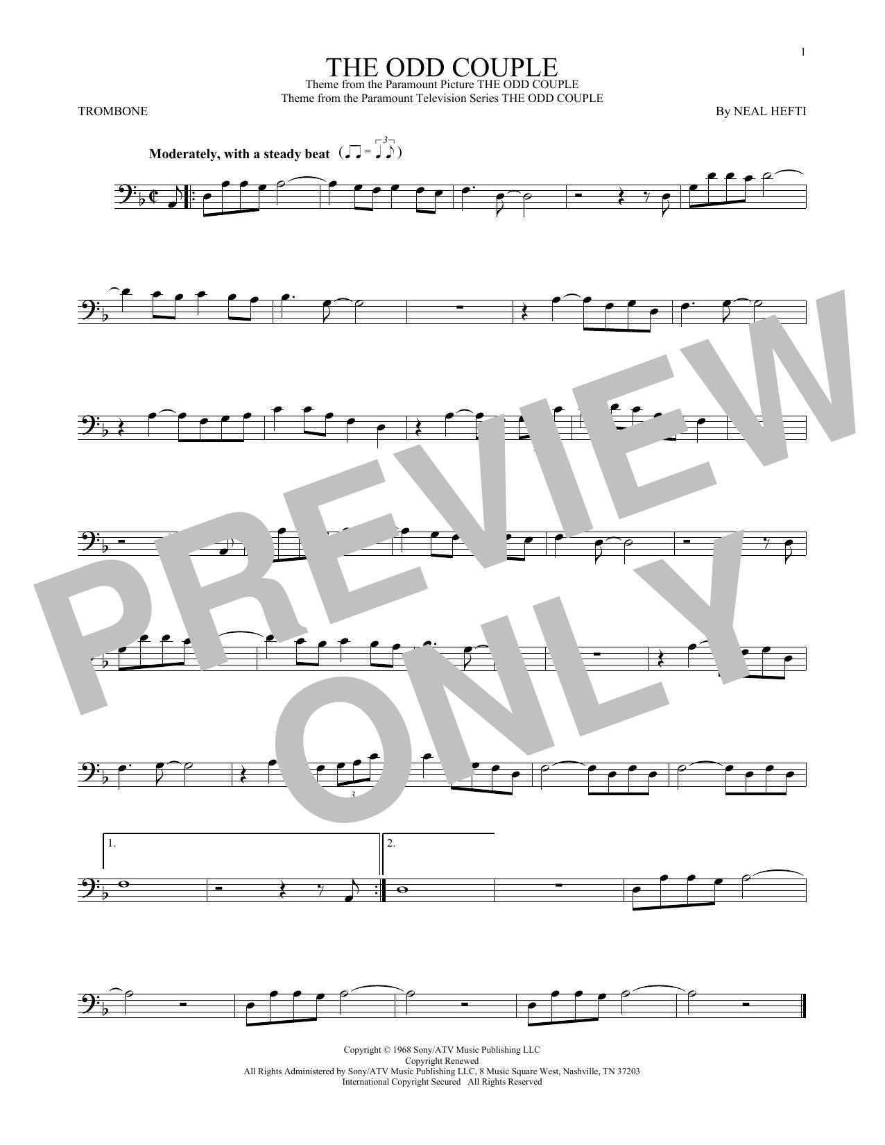 The Odd Couple (Trombone Solo)