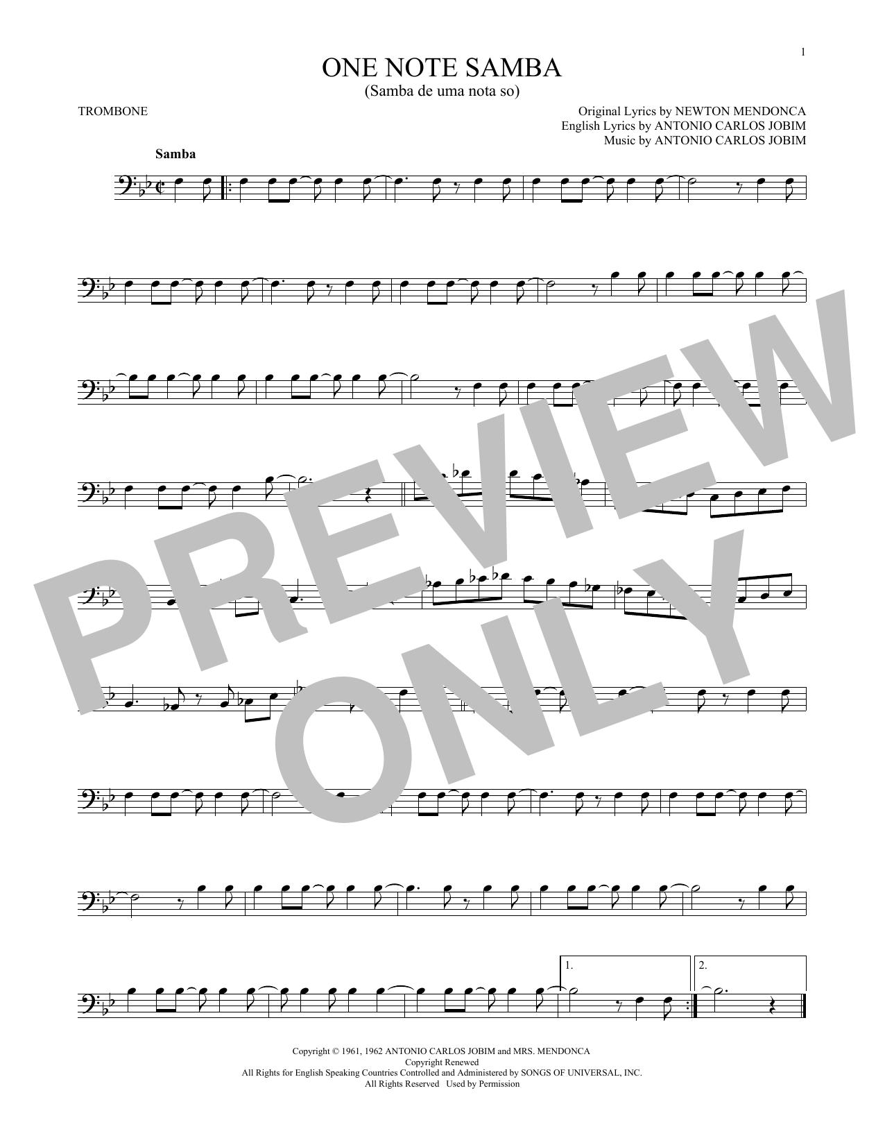 One Note Samba (Samba De Uma Nota So) (Trombone Solo)