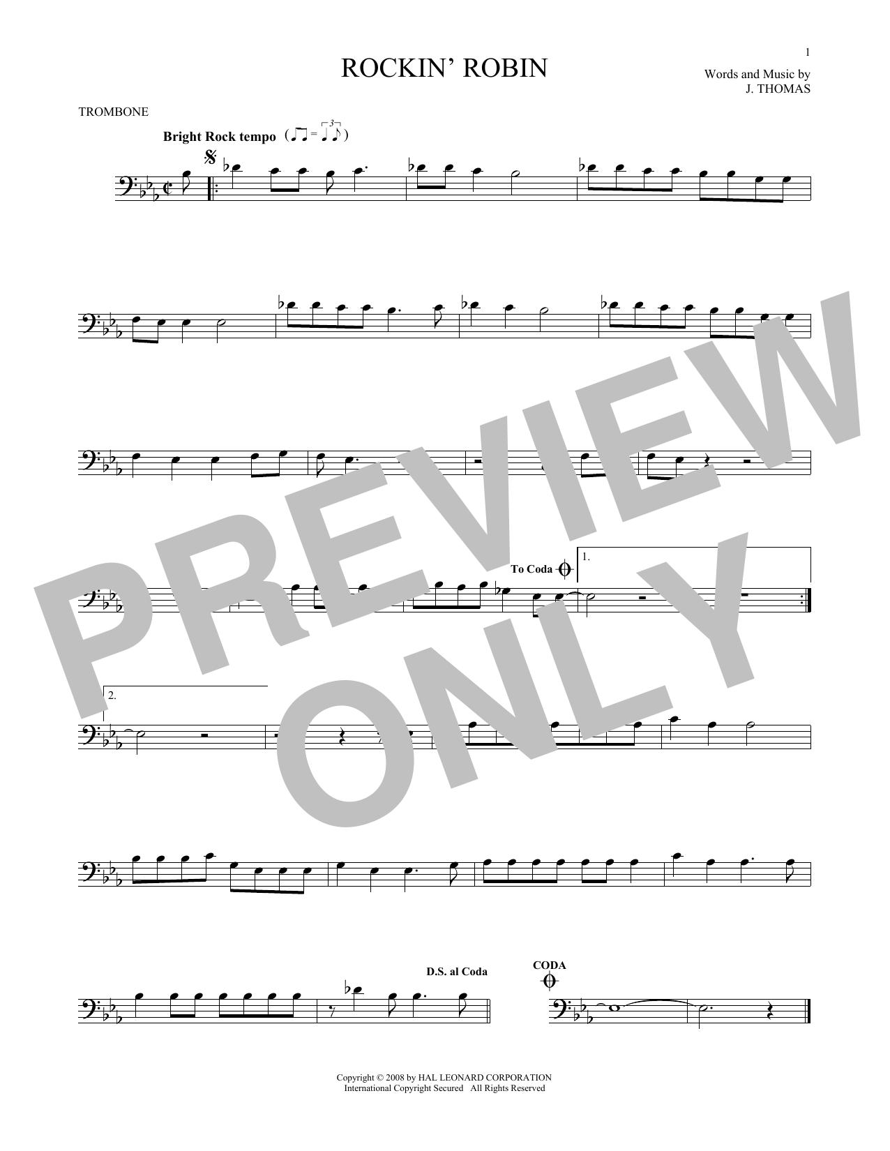 Rockin' Robin (Trombone Solo)
