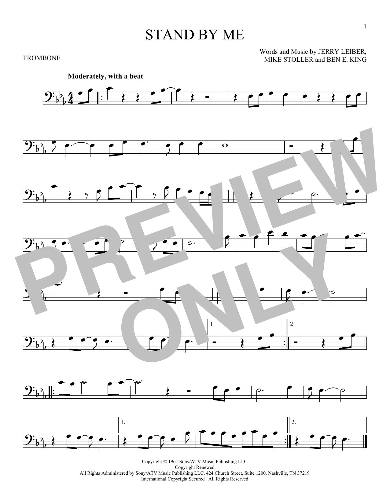 Partition autre Stand By Me de Ben E. King - Trombone
