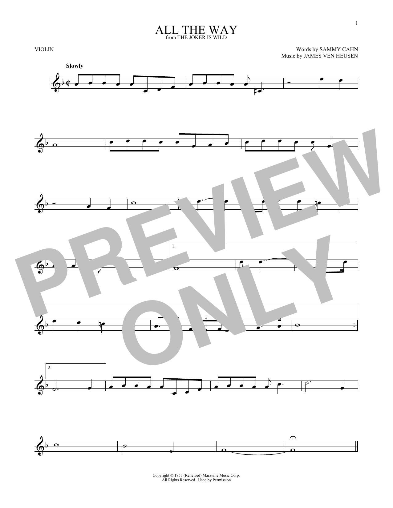 All The Way (Violin Solo)