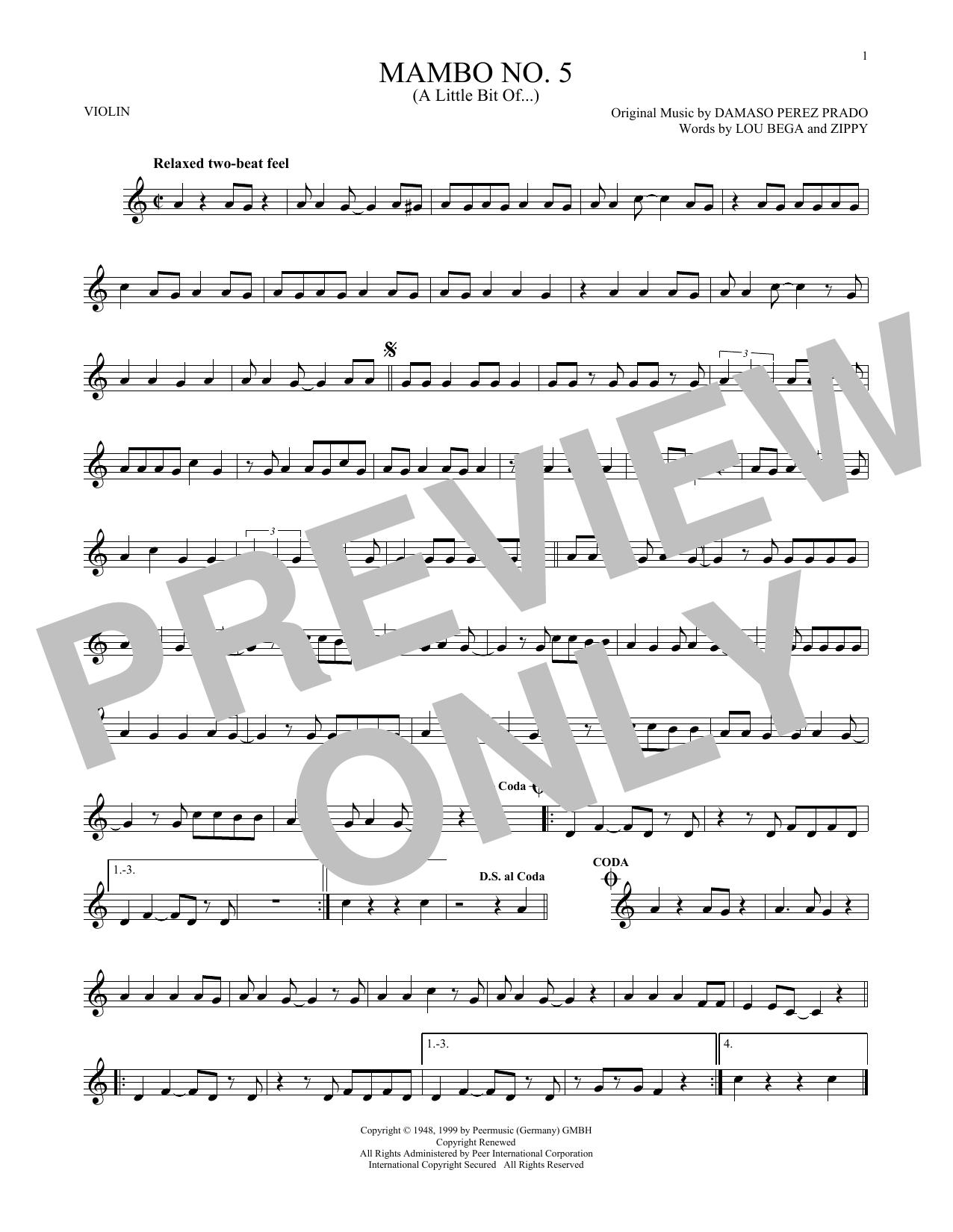 Mambo No. 5 (A Little Bit Of...) (Violin Solo)