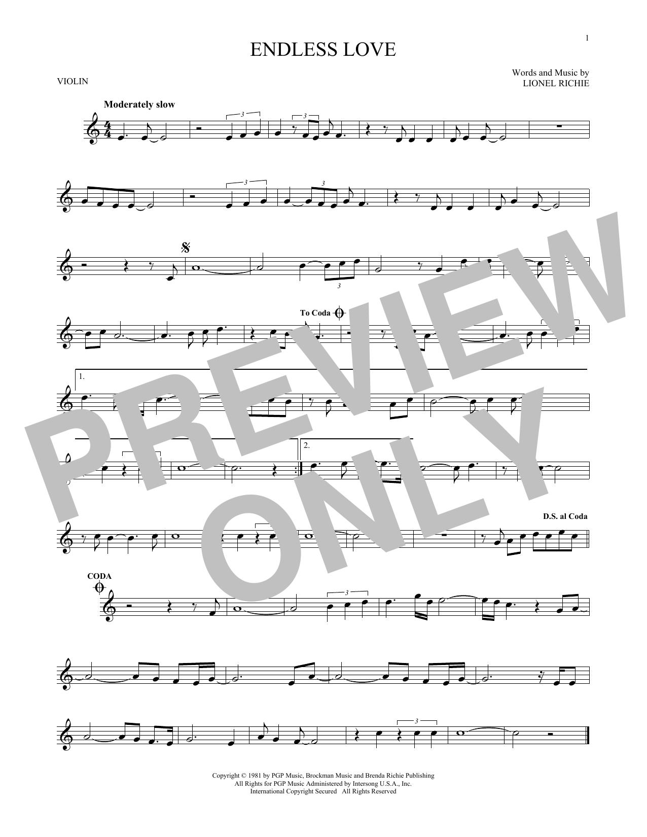 Endless Love (Violin Solo)