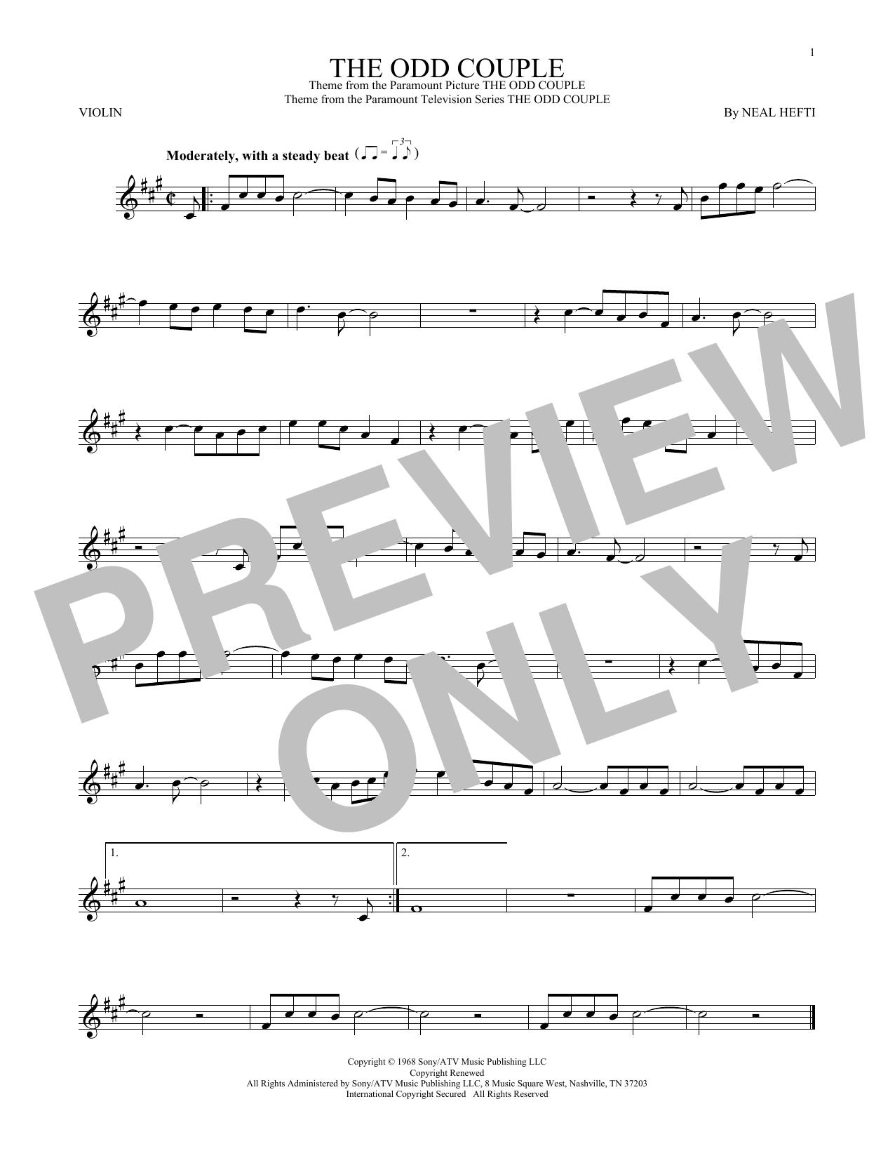The Odd Couple (Violin Solo)