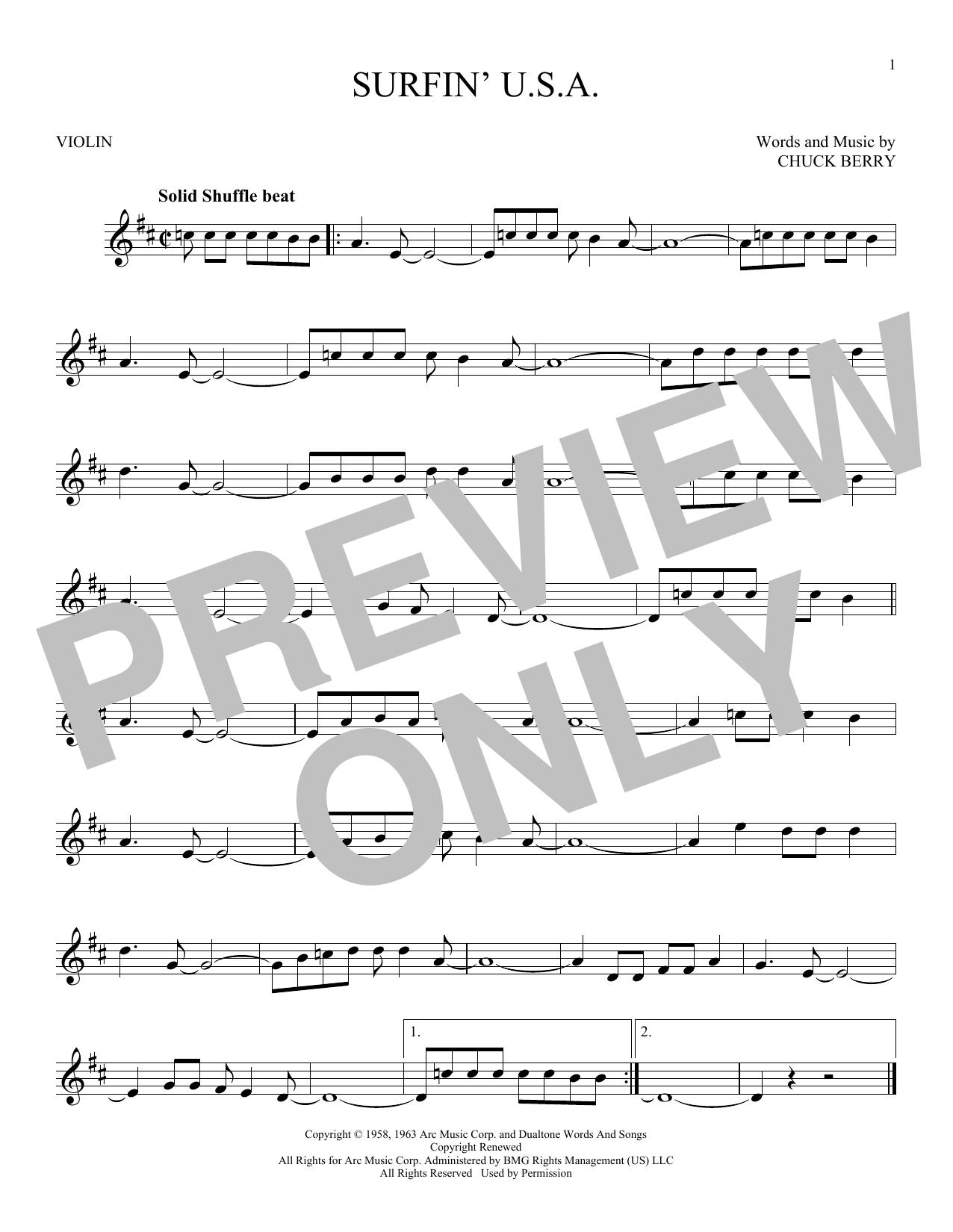 Surfin' U.S.A. (Violin Solo)