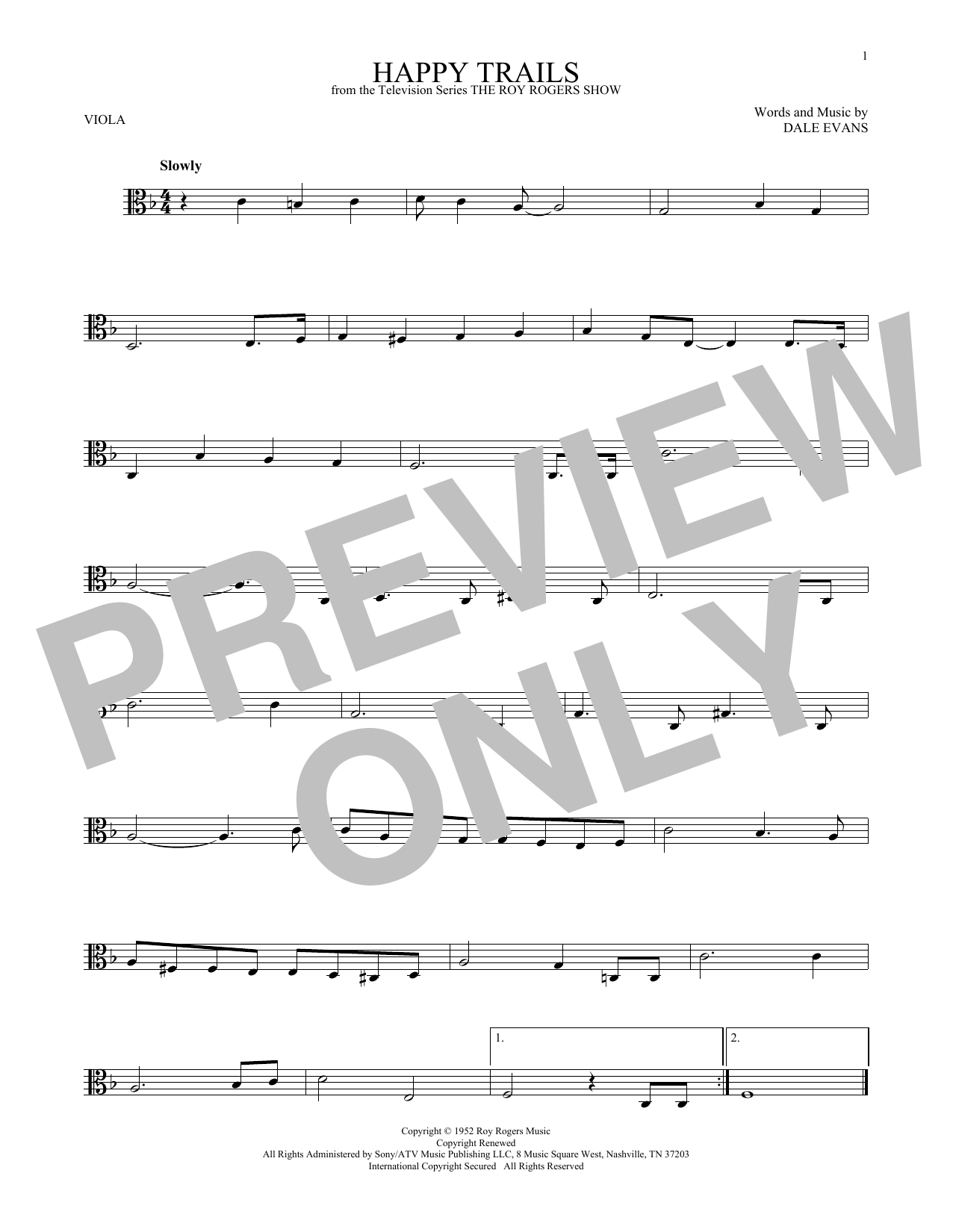 Happy Trails Sheet Music