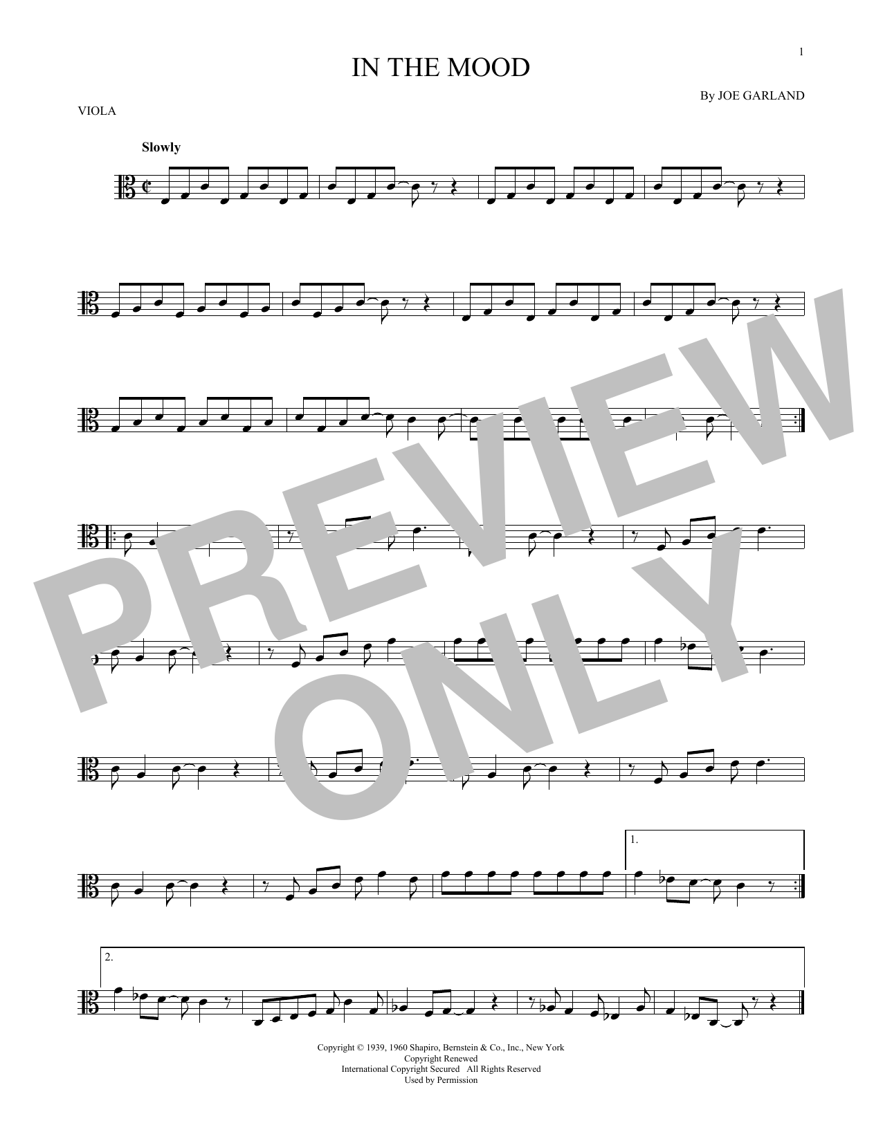 In The Mood Sheet Music