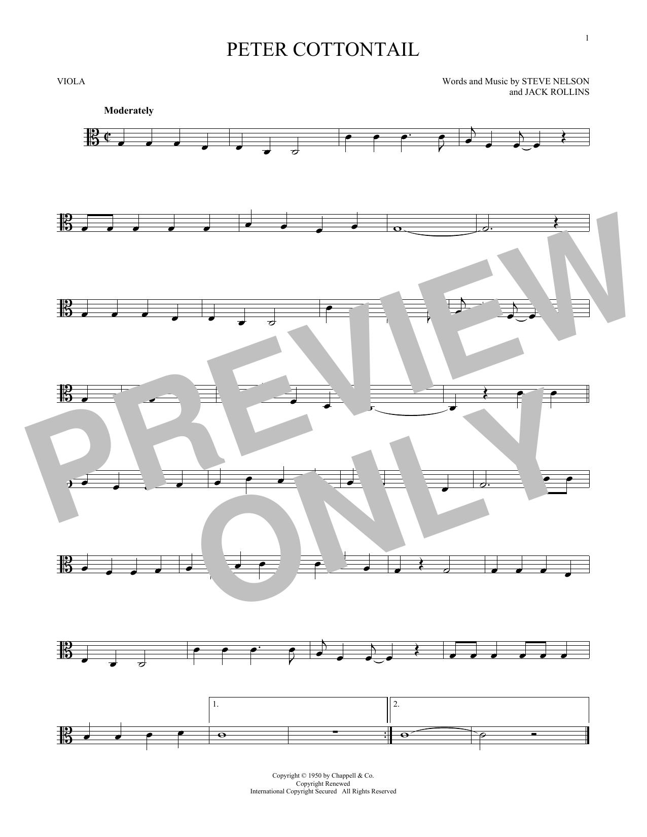 Peter Cottontail Sheet Music