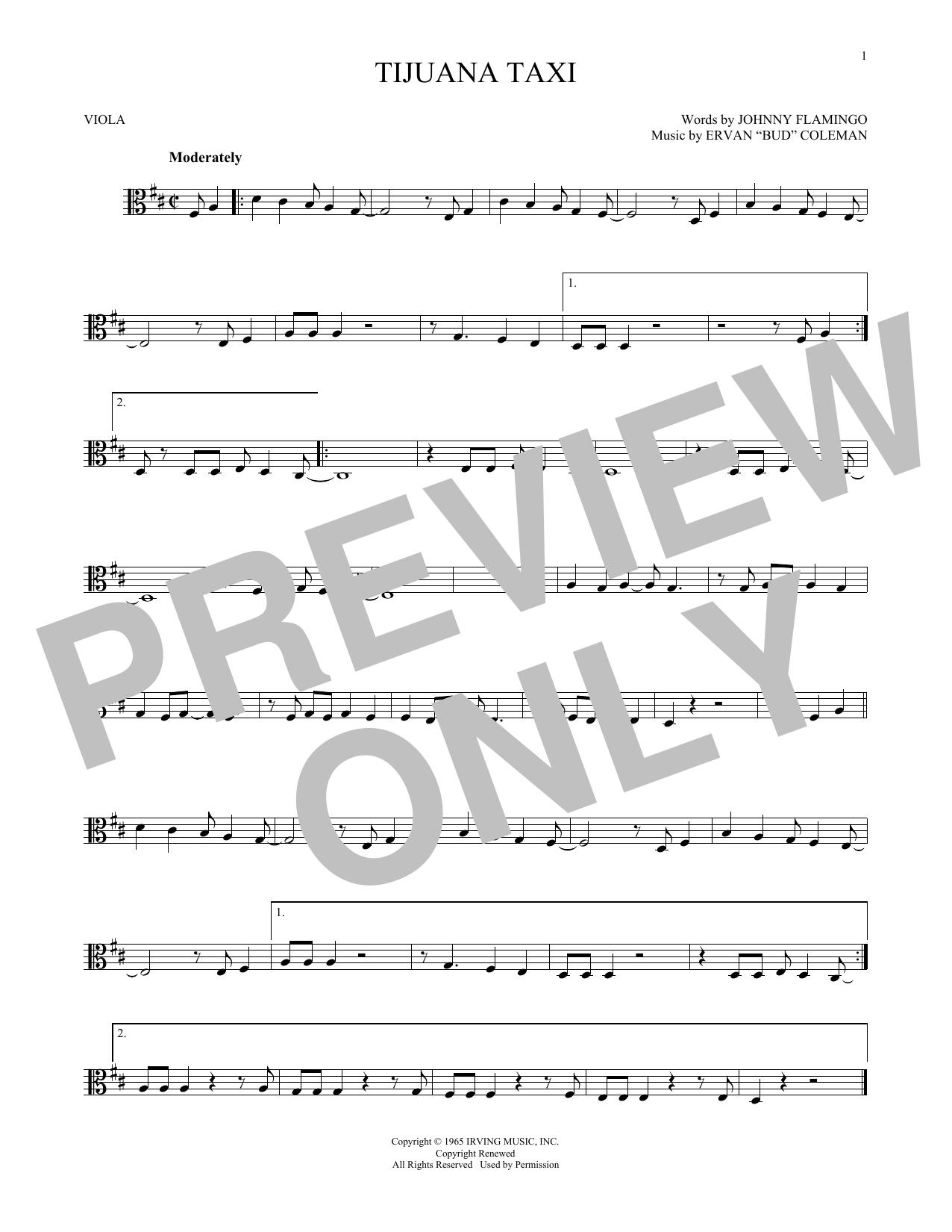 Partition autre Tijuana Taxi de Herb Alpert & The Tijuana Brass Band - Alto