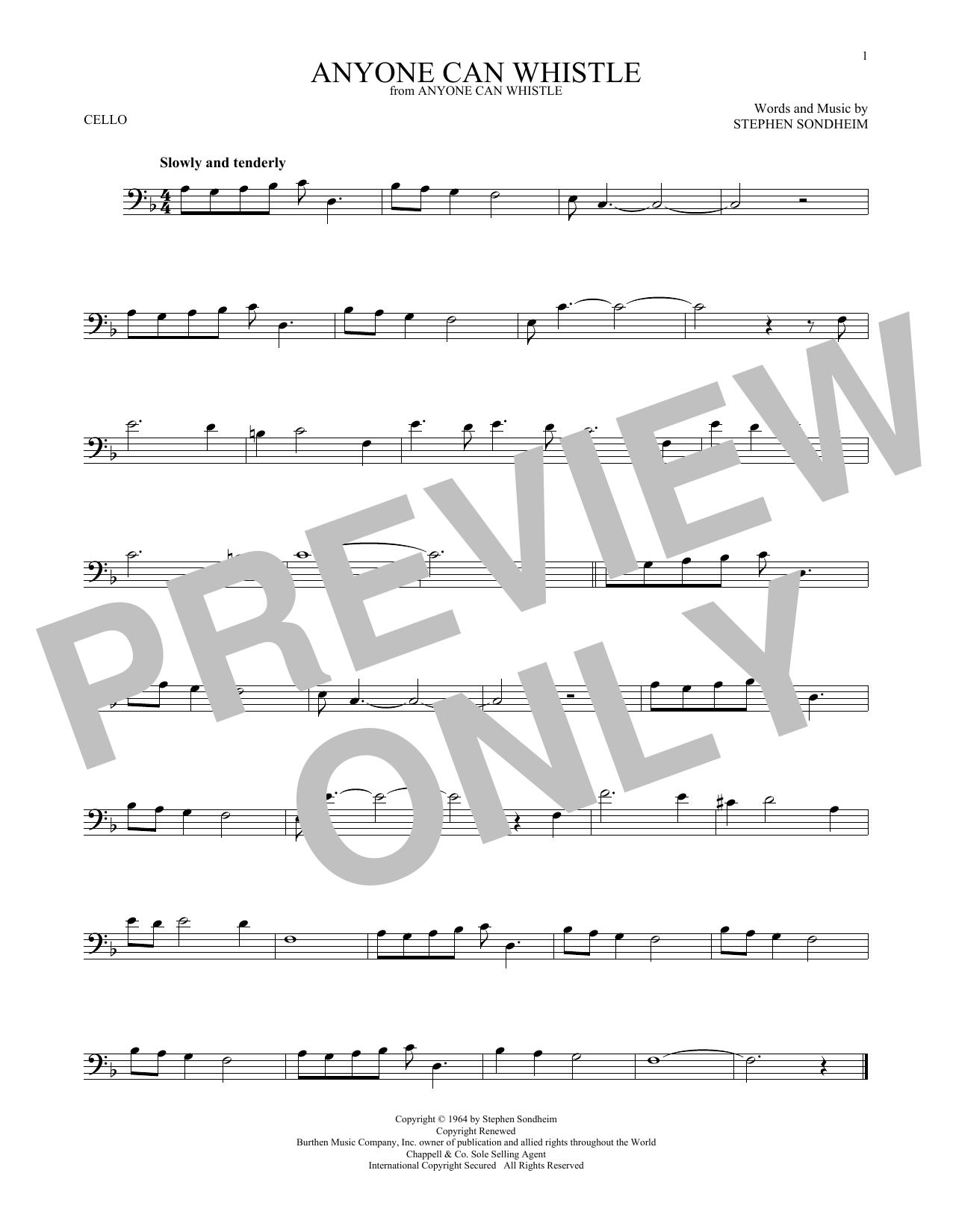 Anyone Can Whistle Sheet Music