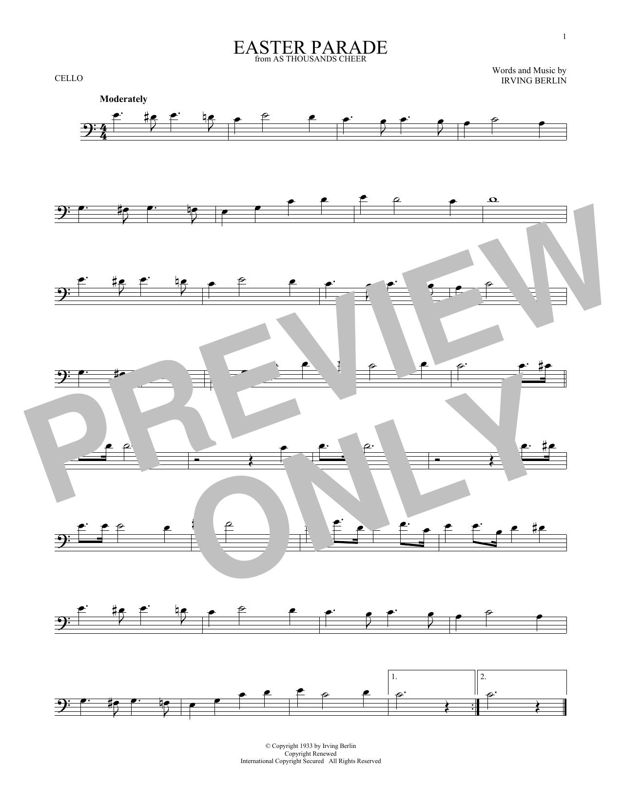 Easter Parade (Cello Solo)
