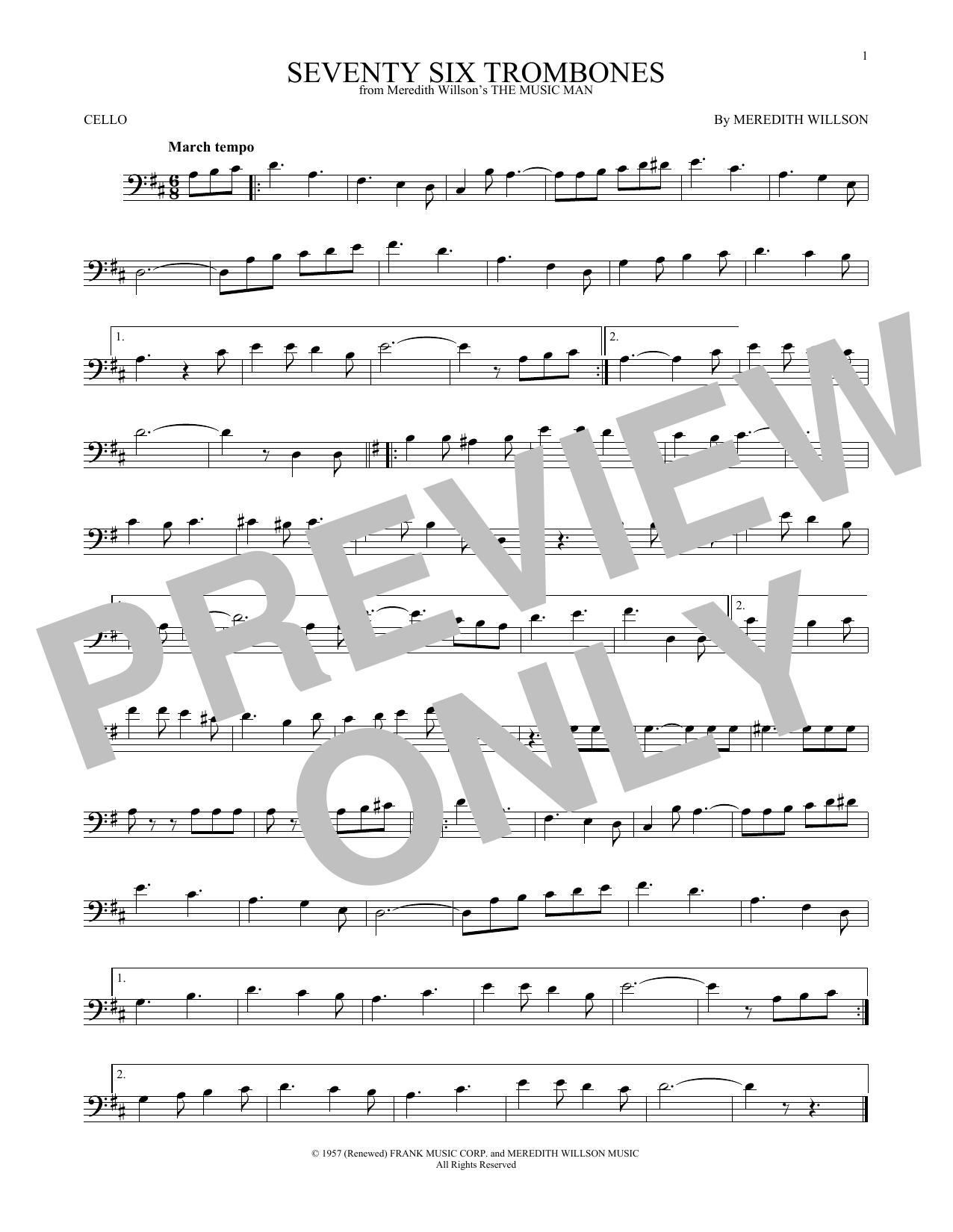 Partition autre Seventy Six Trombones de Meredith Willson - Autre