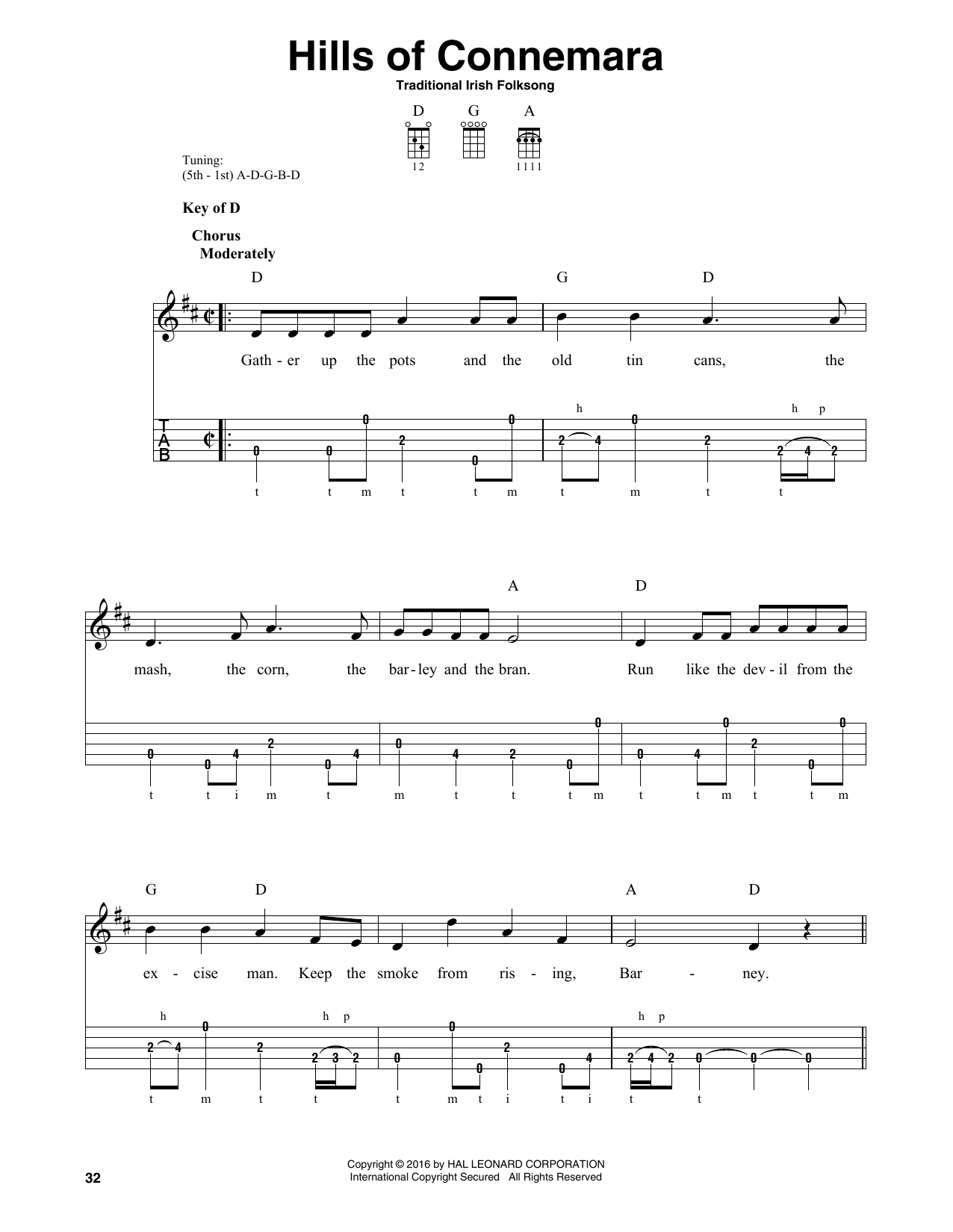 Hills Of Connemara Sheet Music