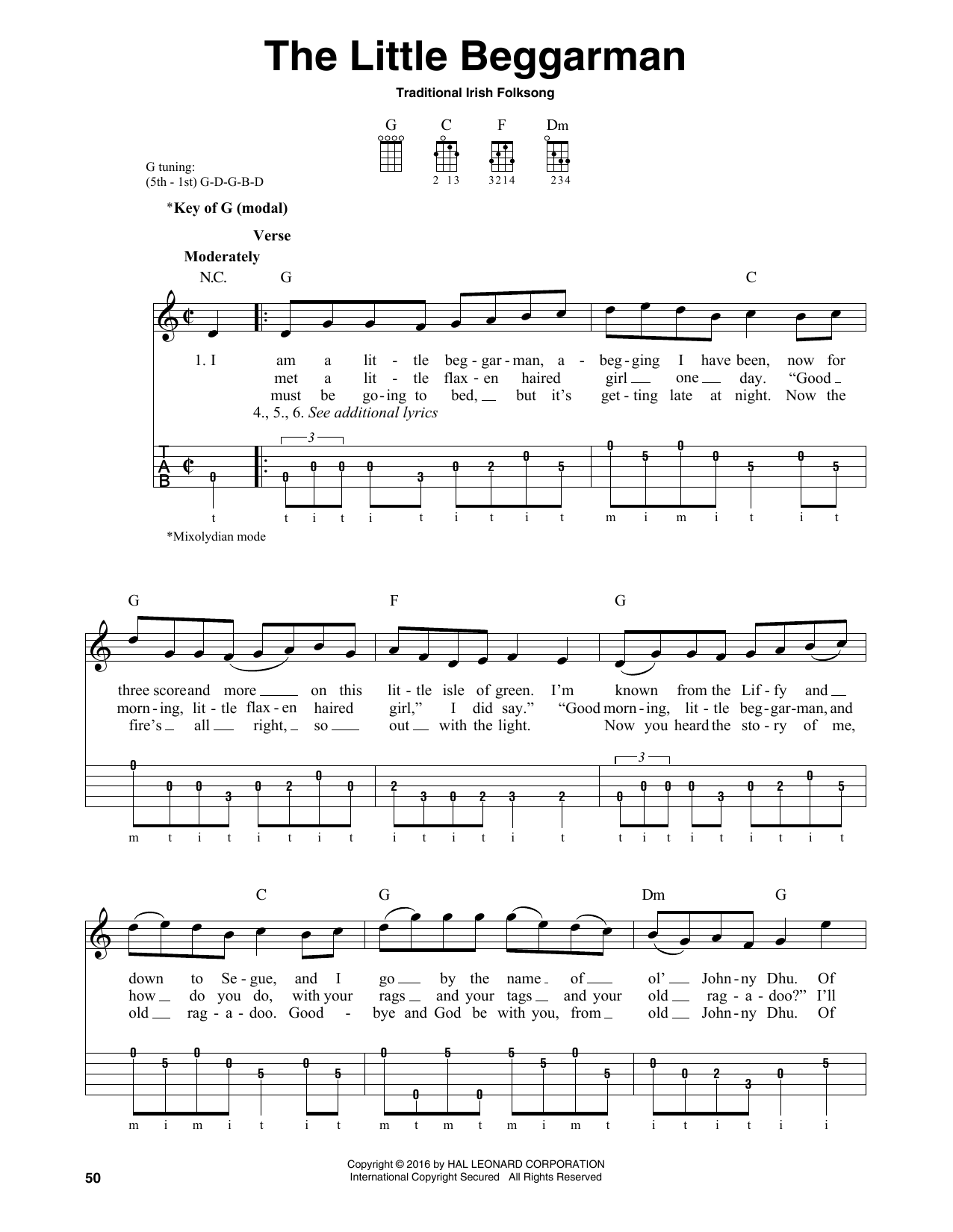 The Little Beggarman Sheet Music