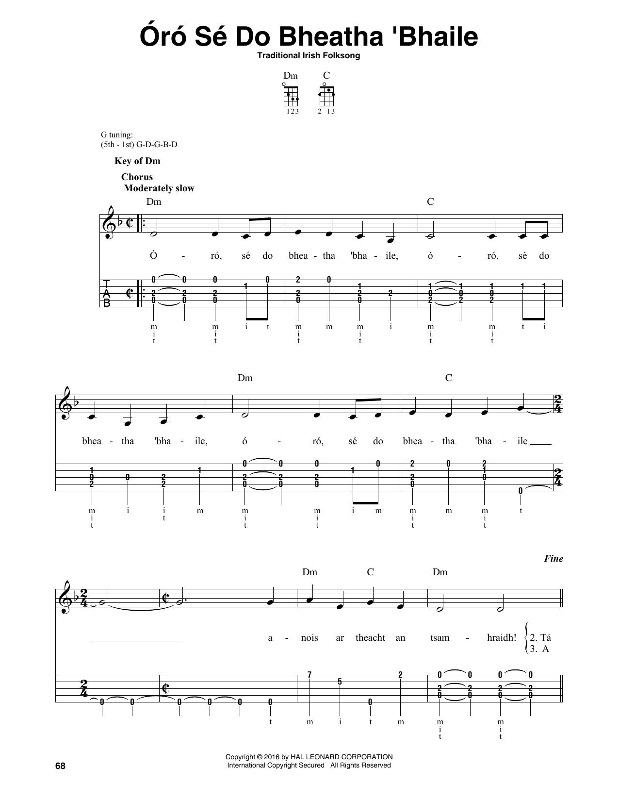 Partition autre Oro Se Do Bheatha Bhaile de Traditional Irish Folk Song - Autre