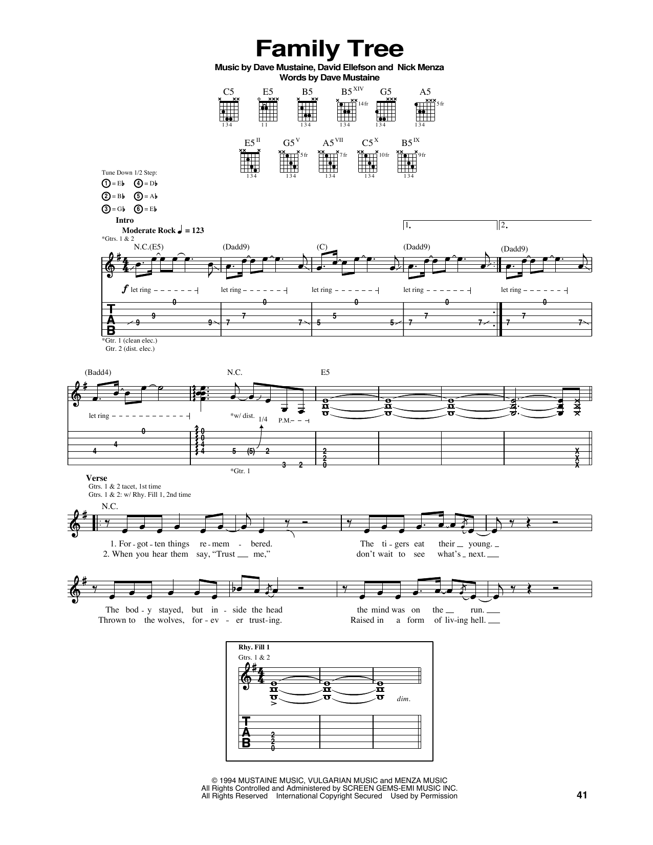 Family Tree Sheet Music