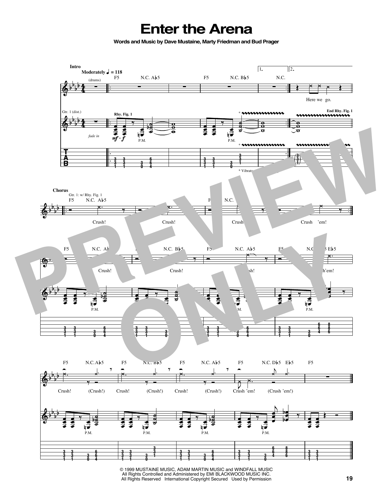 Enter The Arena Sheet Music